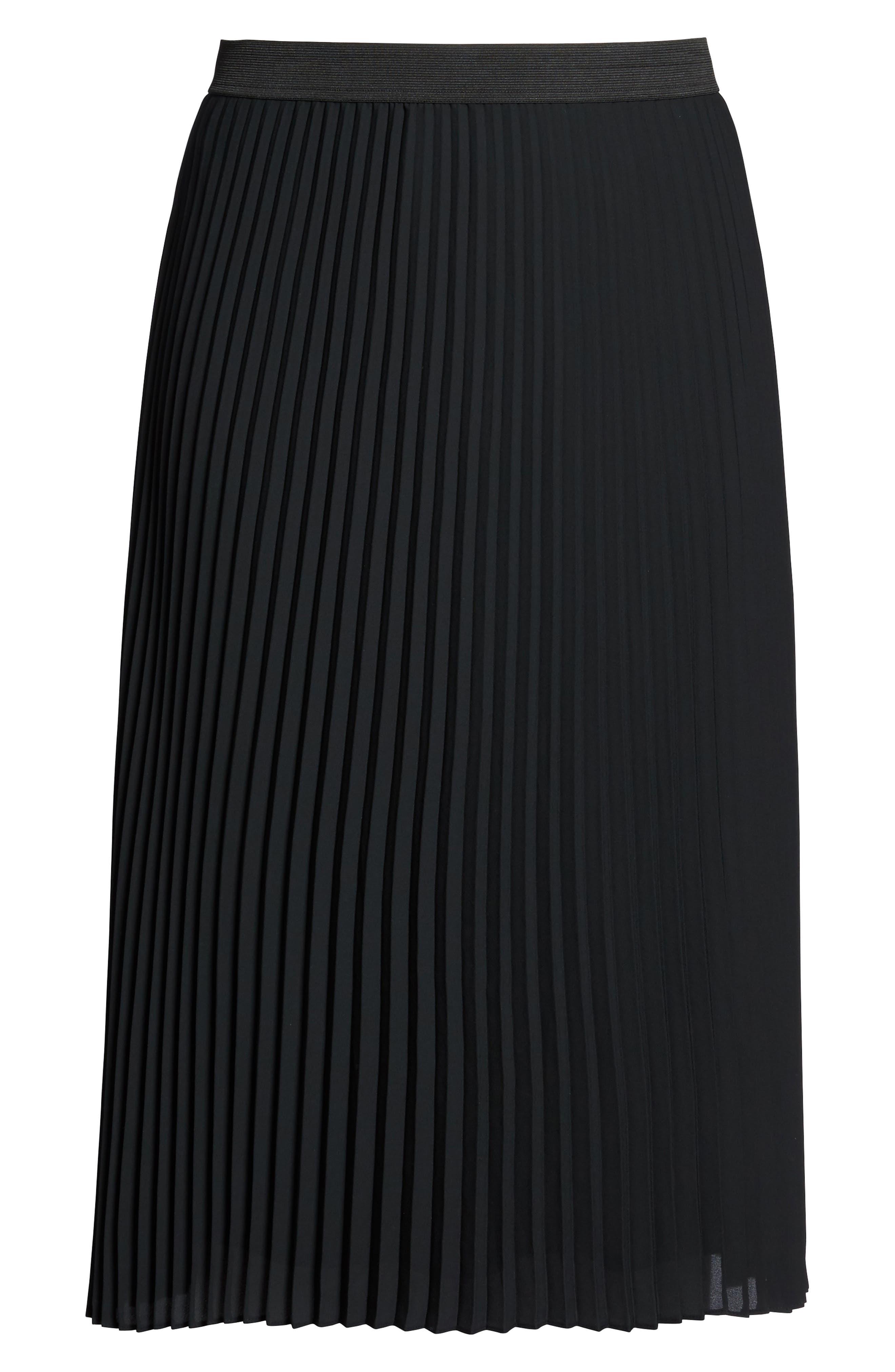 Alternate Image 7  - Sejour Pleated Midi Skirt (Plus Size)