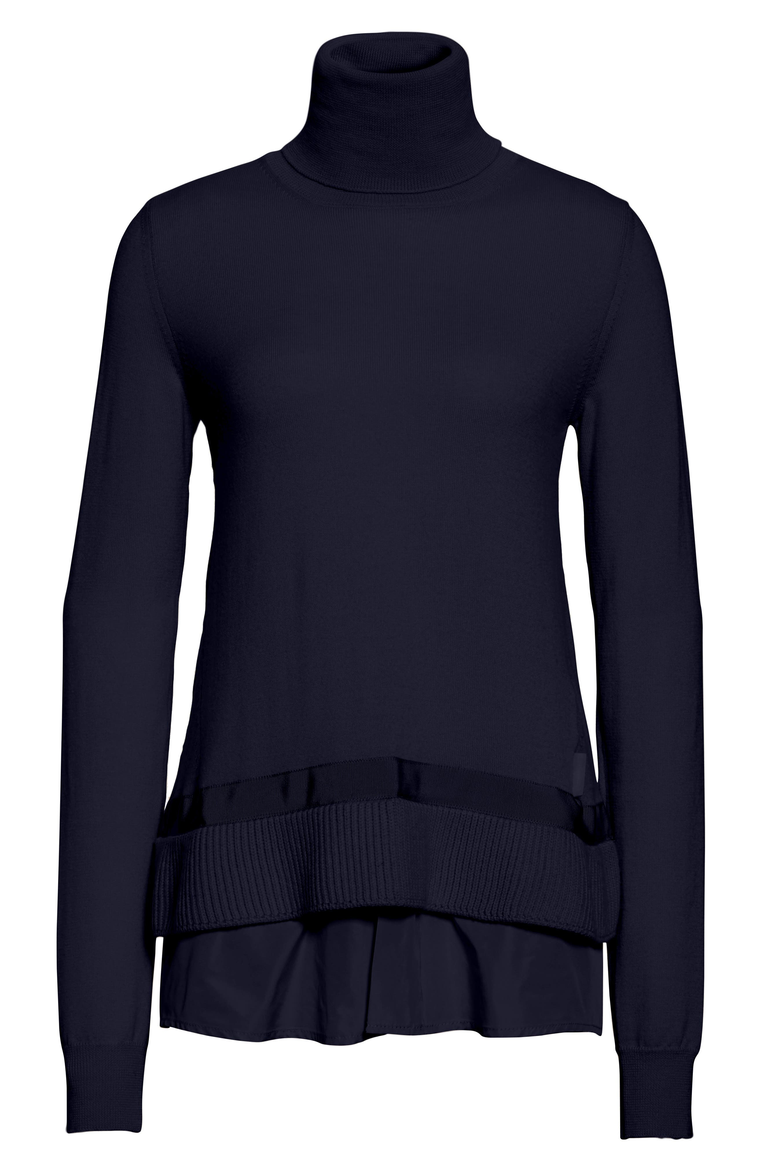 Alternate Image 6  - Moncler Ciclista Tricot Knit Wool Turtleneck Sweater