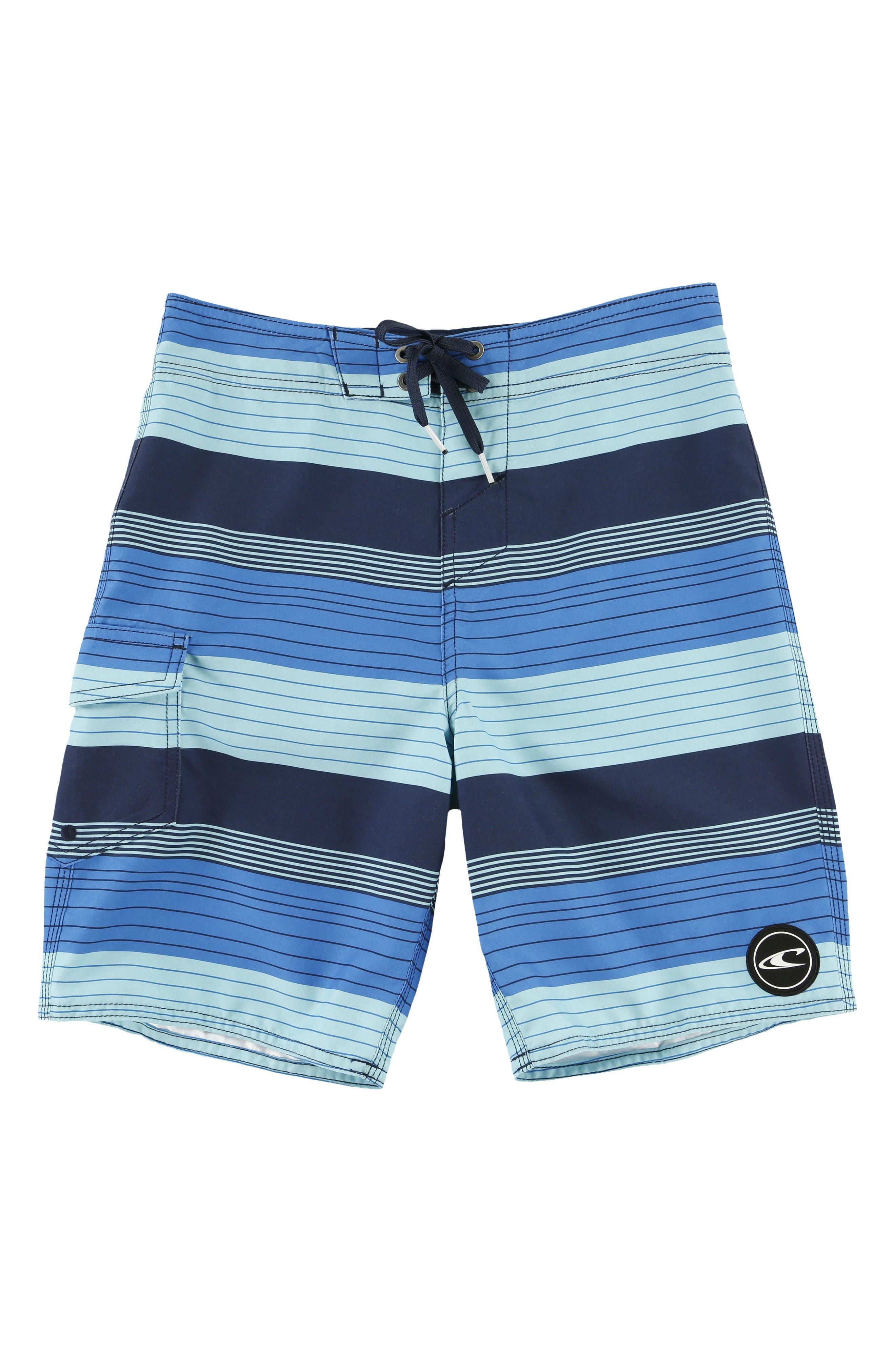 Santa Cruz Stripe Board Shorts,                         Main,                         color, Navy