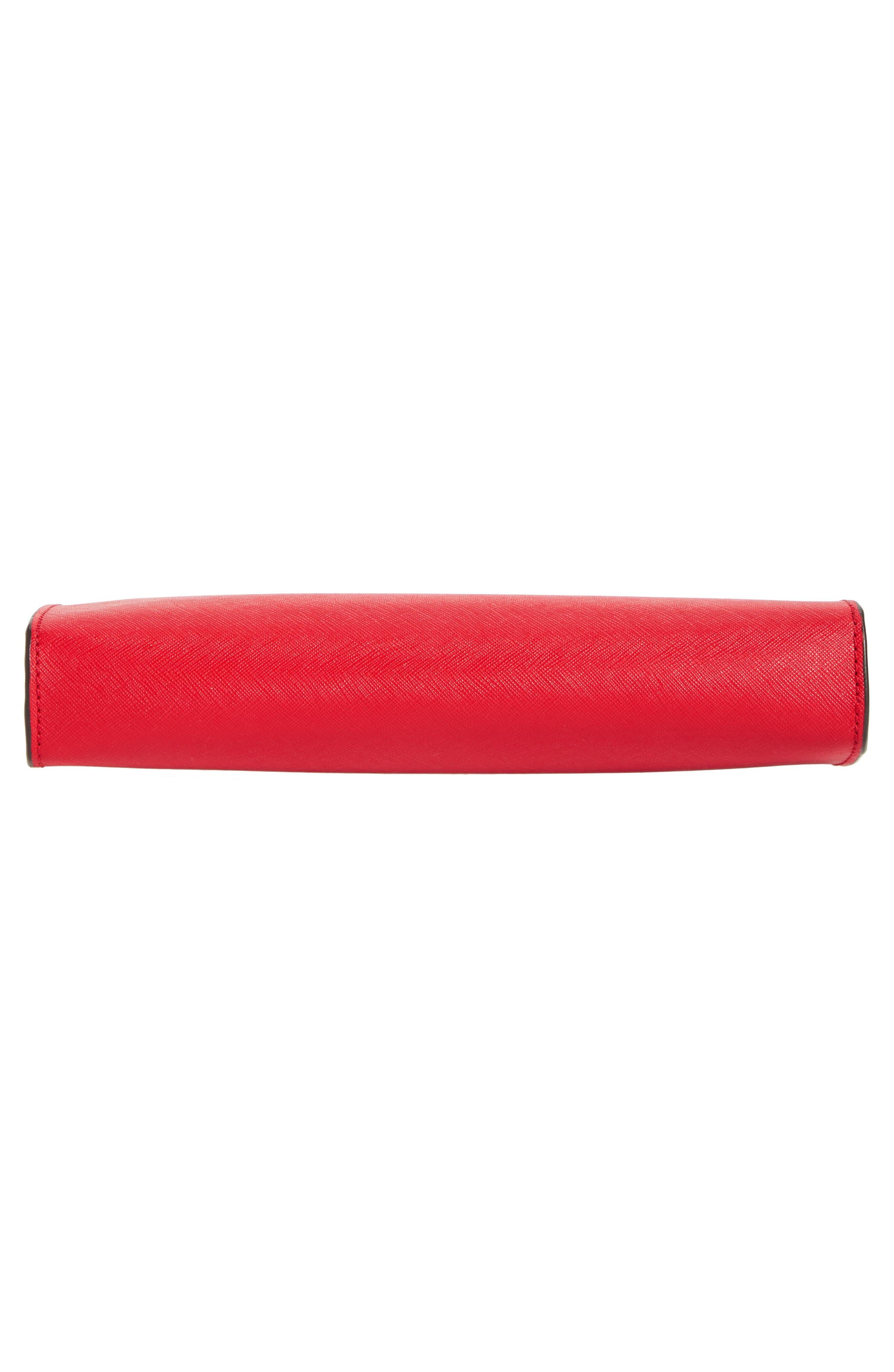 'Large Jet Set Travel' Crossbody Bag,                             Alternate thumbnail 6, color,                             Bright Red