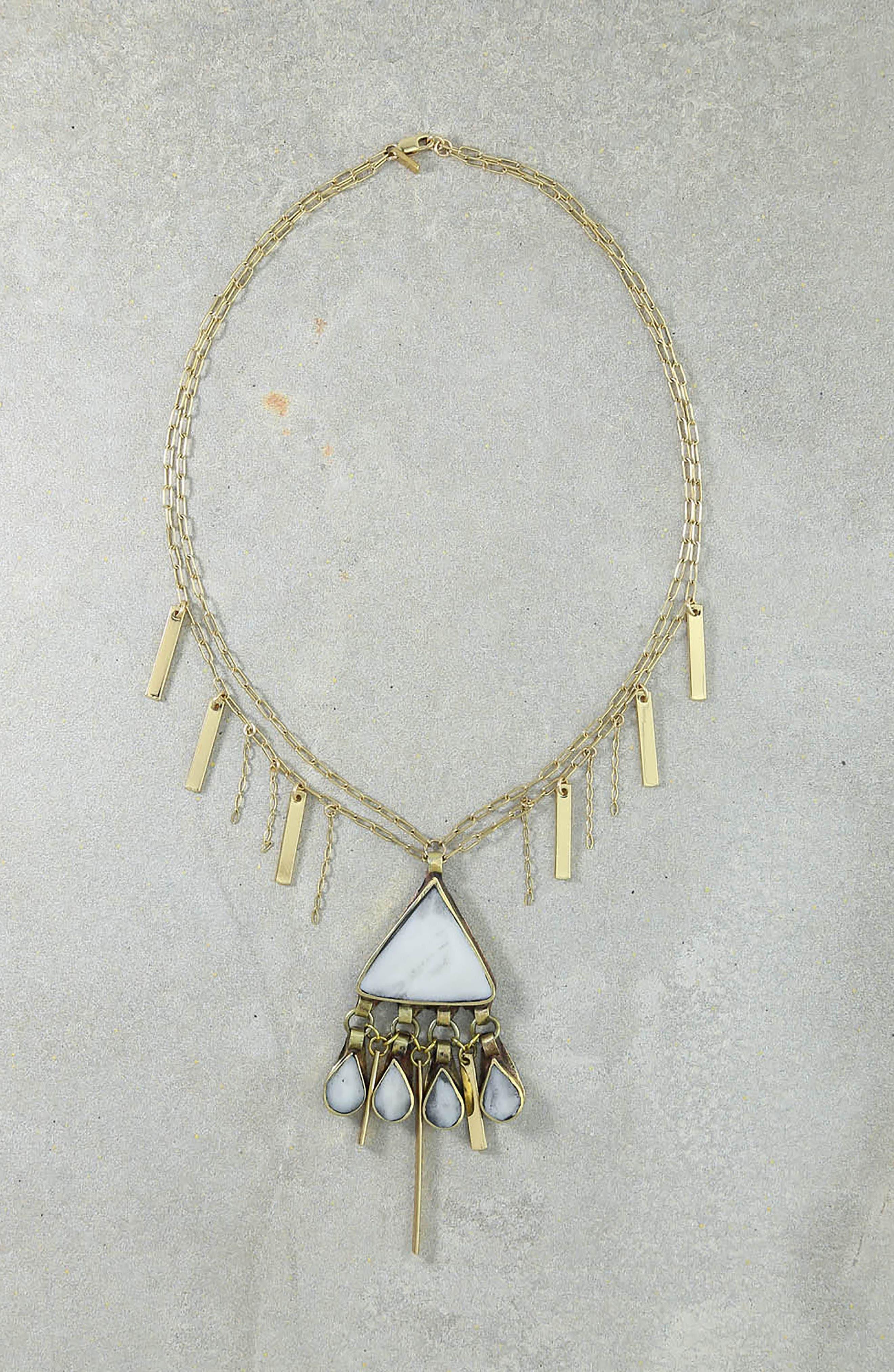 Gia Pendant Necklace,                             Alternate thumbnail 3, color,                             Gold