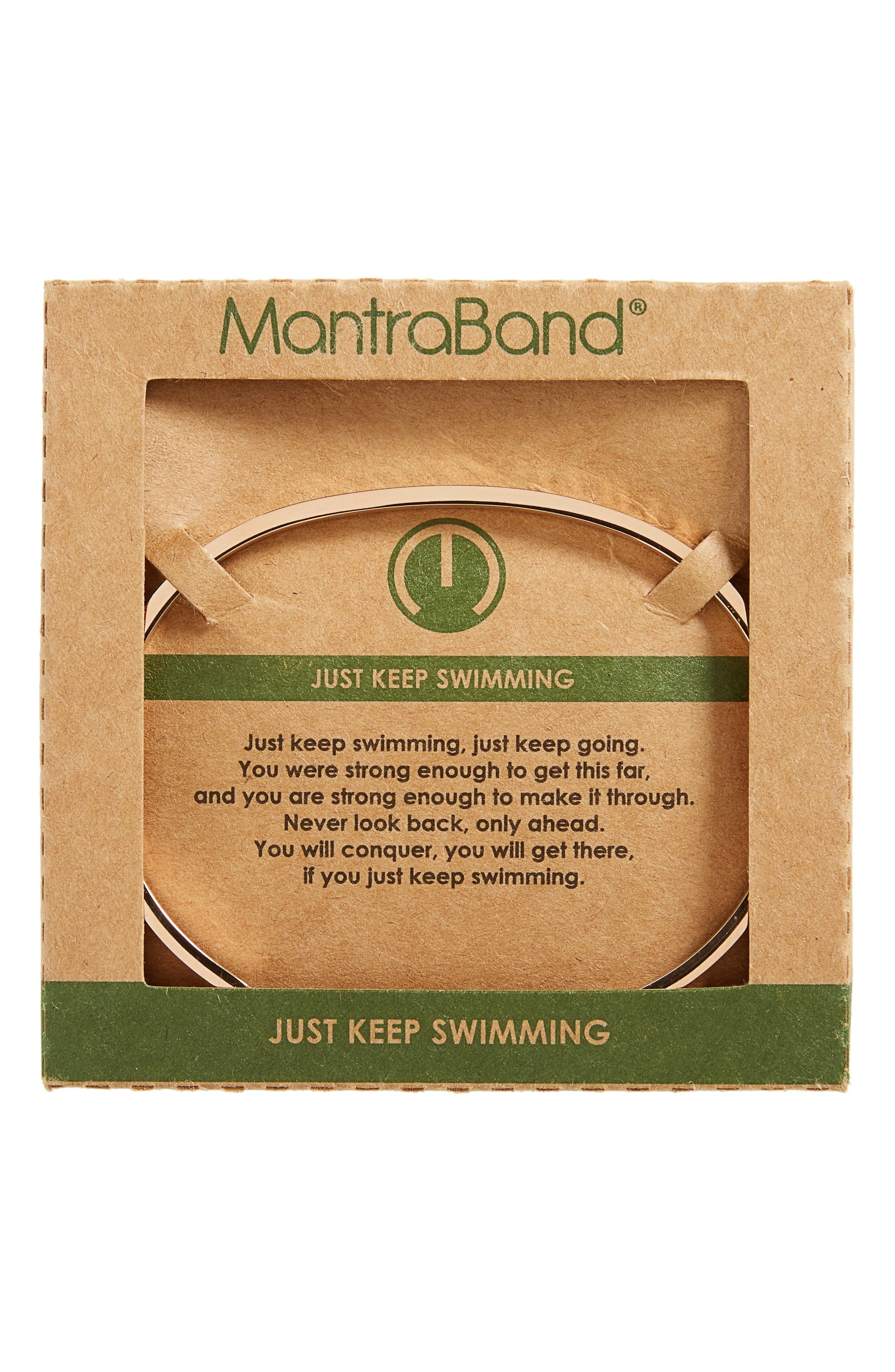 Alternate Image 2  - MantraBand Just Keep Swimming Engraved Cuff