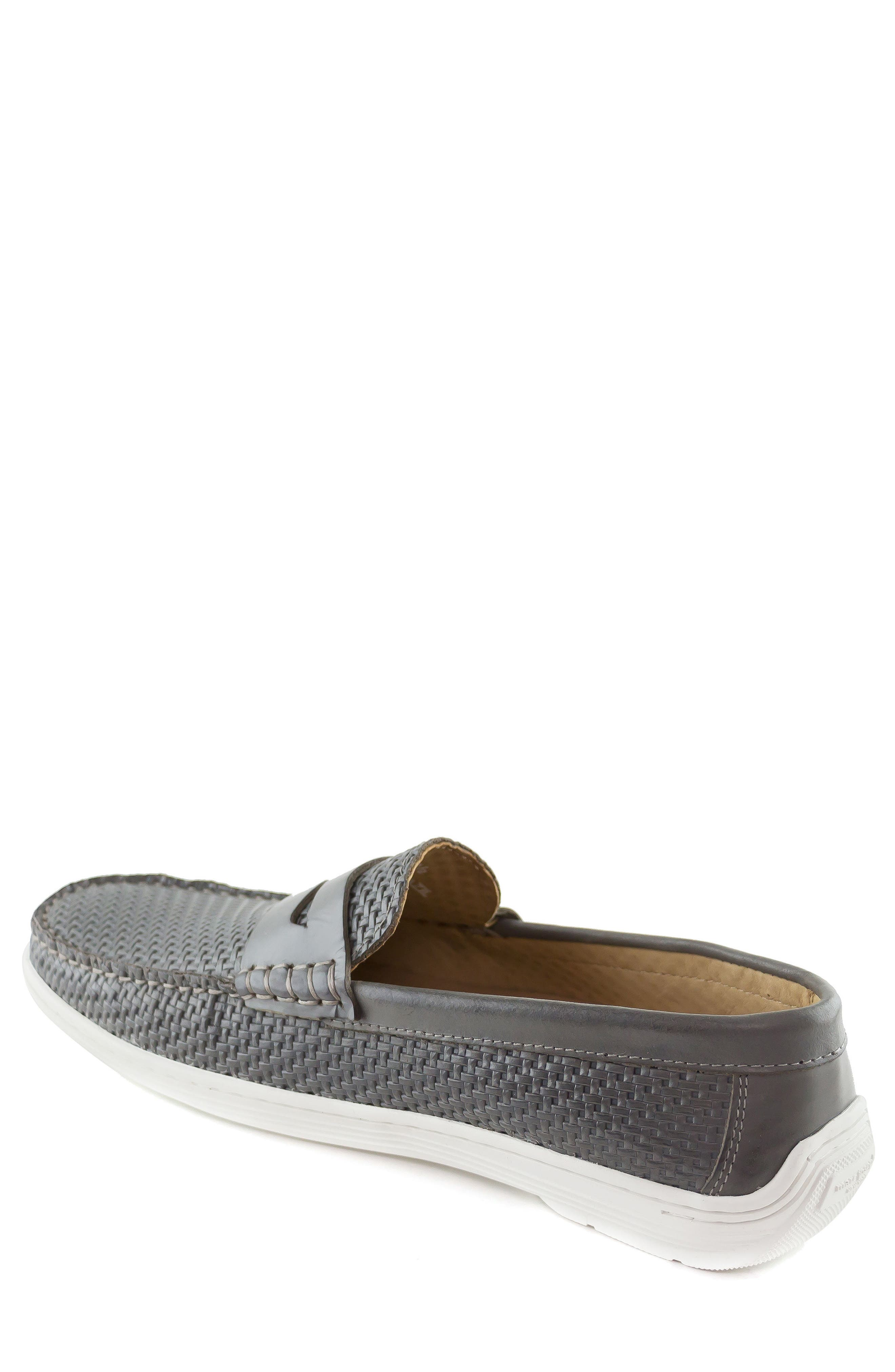 Atlantic Penny Loafer,                             Alternate thumbnail 2, color,                             Grey Leather