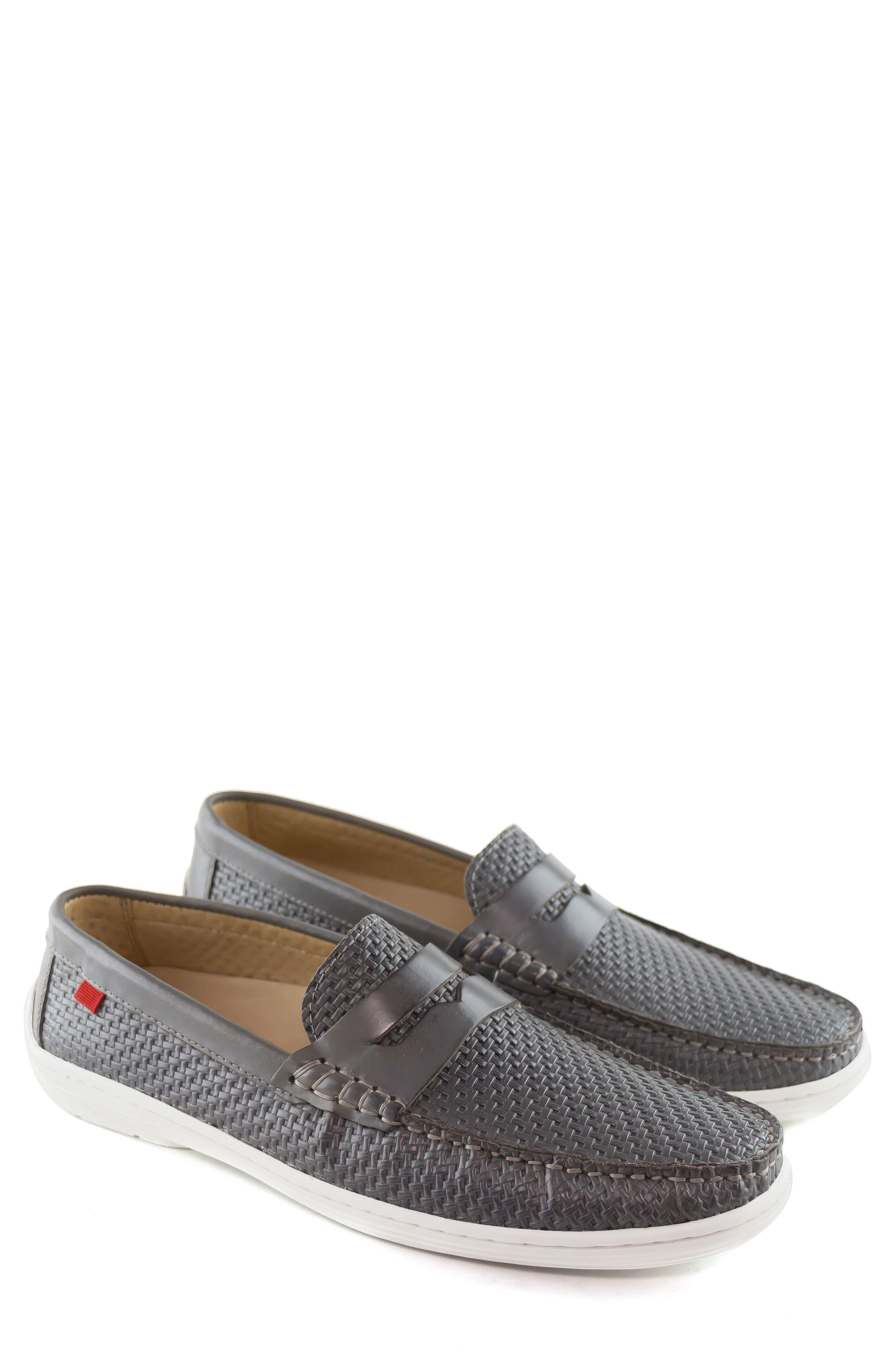 Atlantic Penny Loafer,                             Alternate thumbnail 4, color,                             Grey Leather