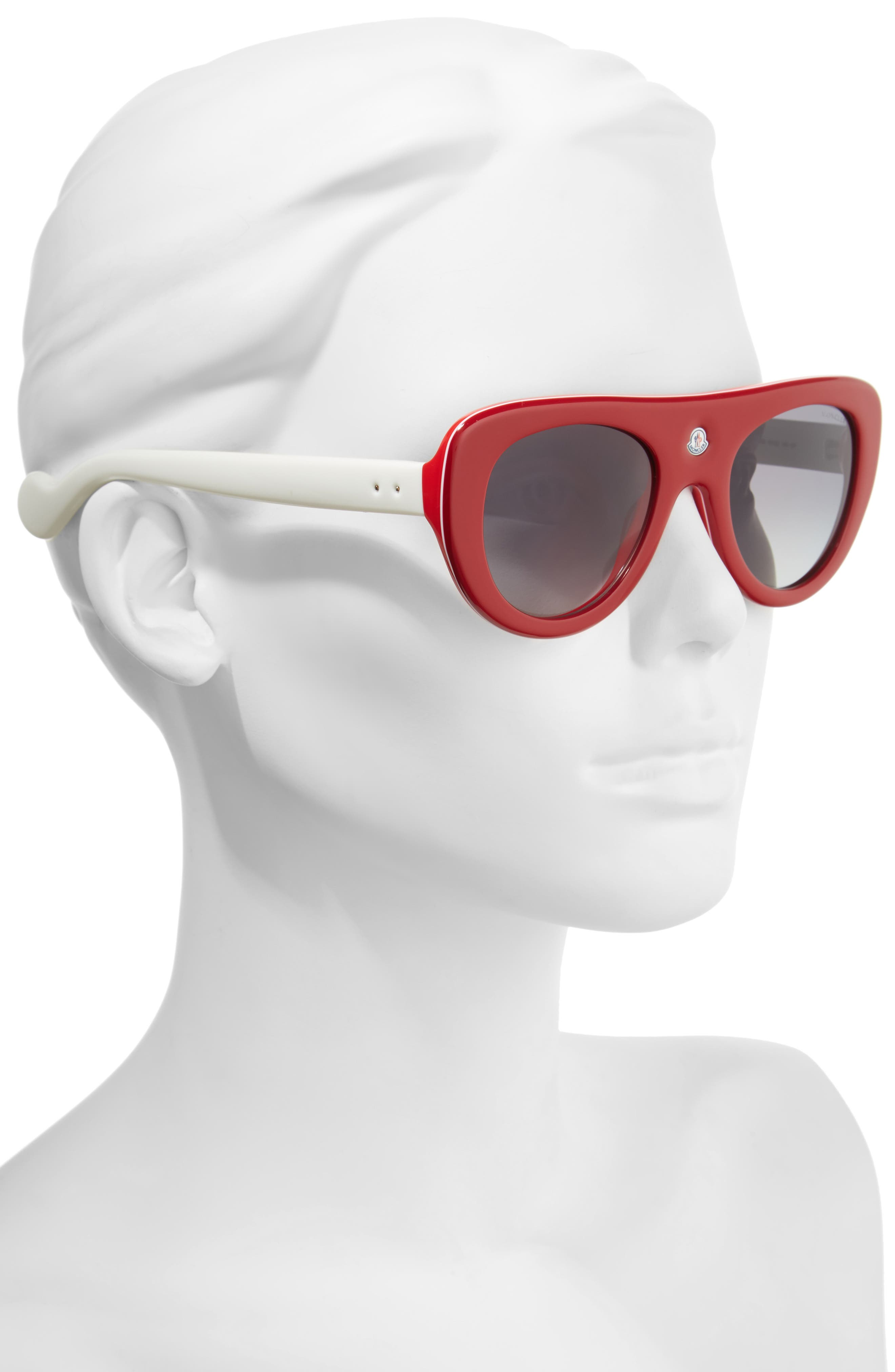 Alternate Image 2  - Moncler 51mm Polarized Two-Tone Geometric Sunglasses