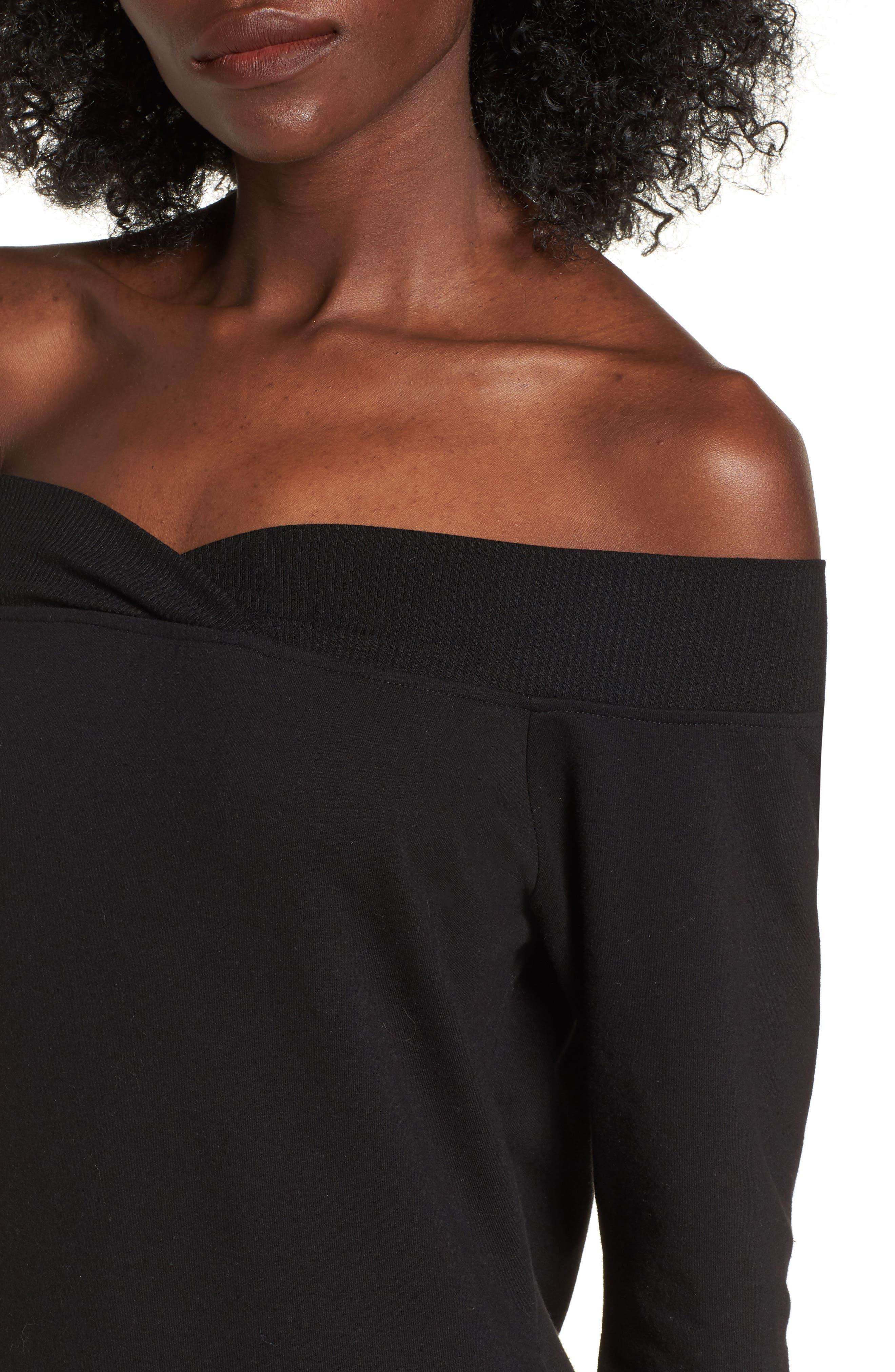 Alternate Image 4  - Socialite Off the Shoulder Sweatshirt Dress
