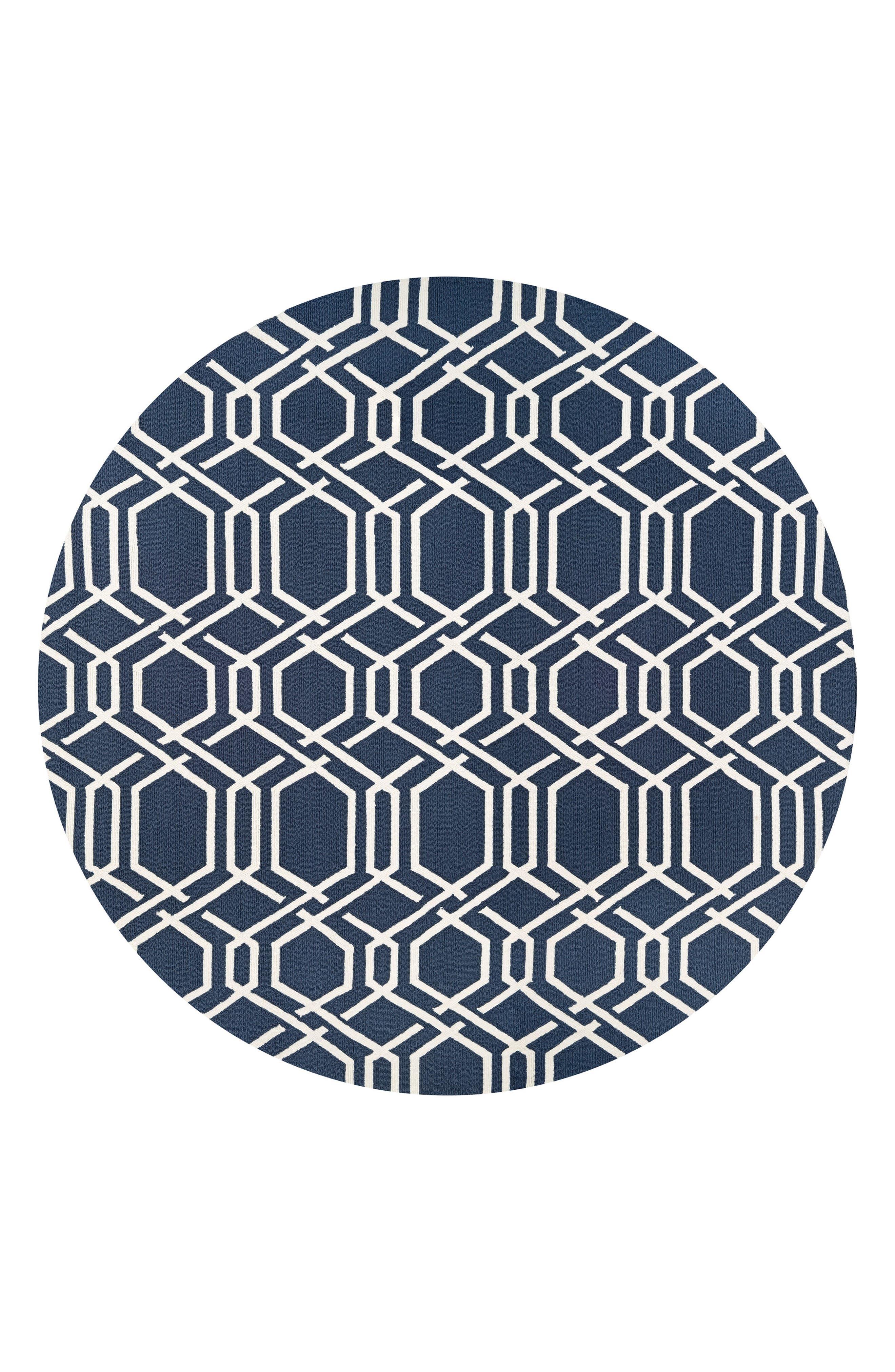 Ariatta Indoor/Outdoor Rug,                         Main,                         color, Navy