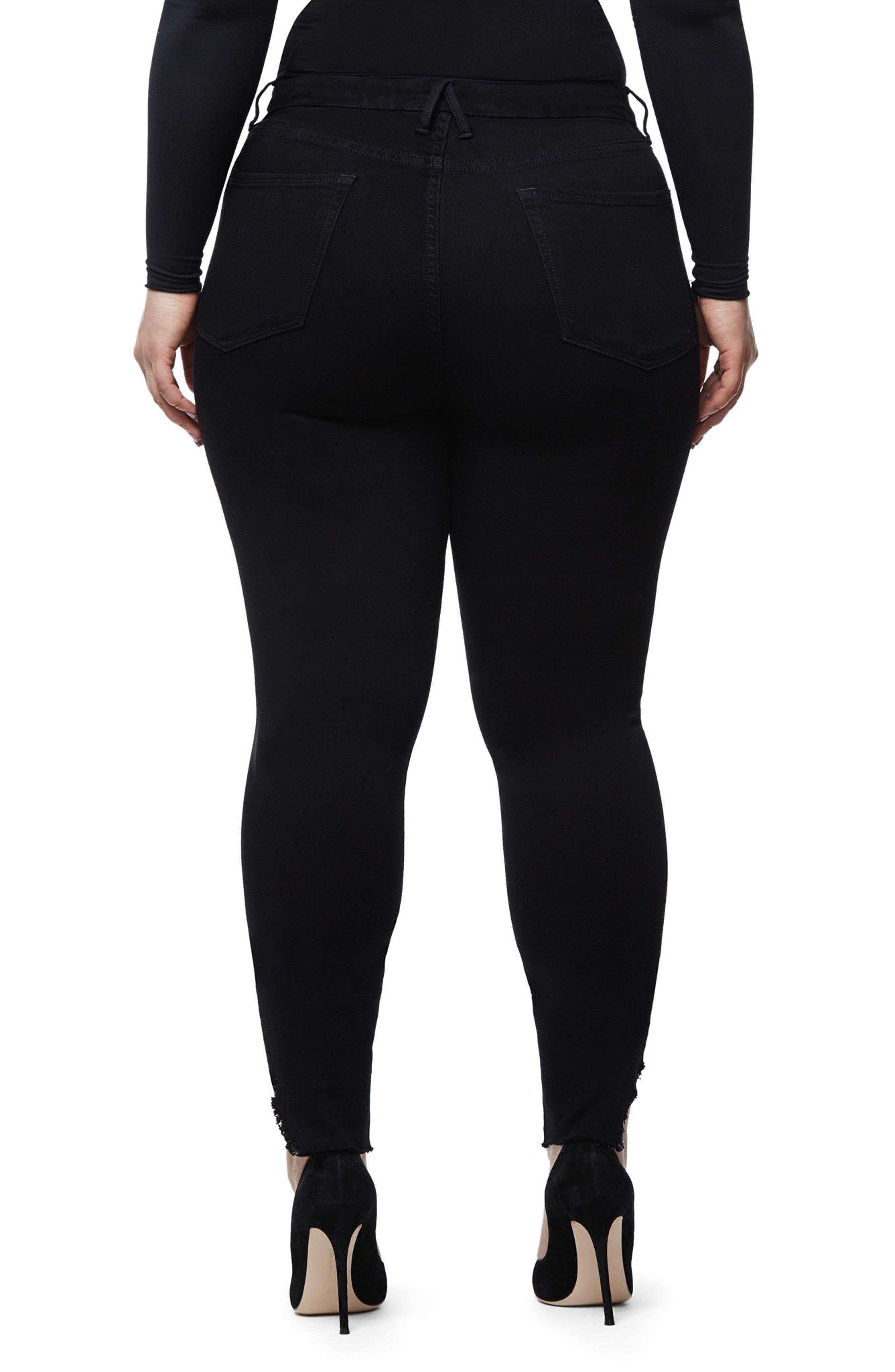 Good Waist Side Triangle Skinny Jeans,                             Alternate thumbnail 8, color,                             Black108