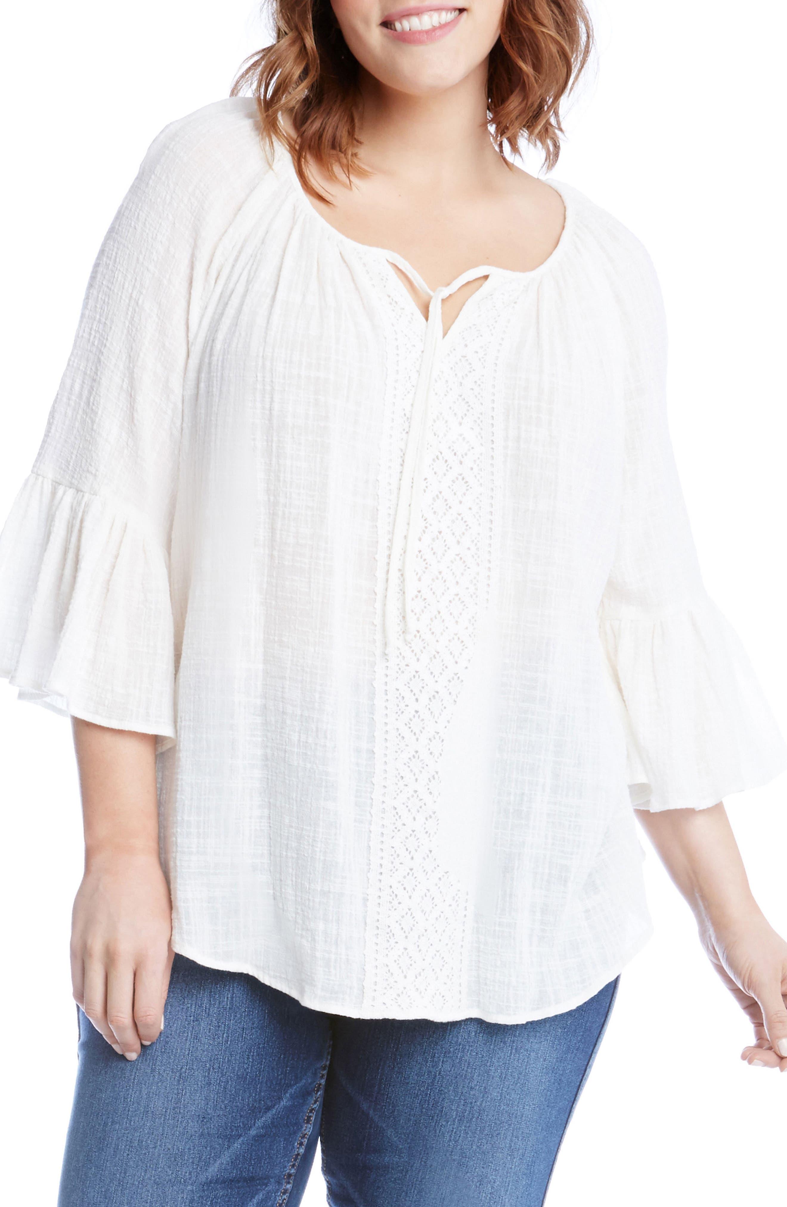 Karen Kane Bell Sleeve Top (Plus Size)