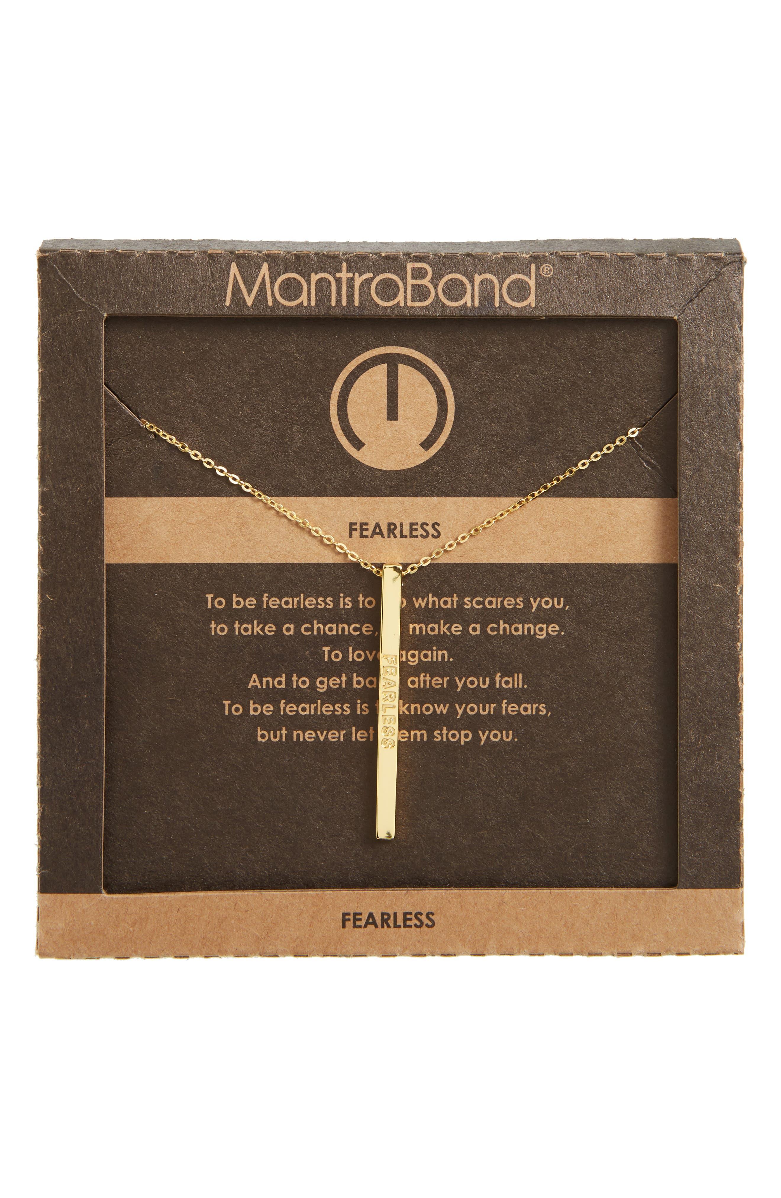 Alternate Image 3  - MantraBand® Fearless Pendant Neckalce
