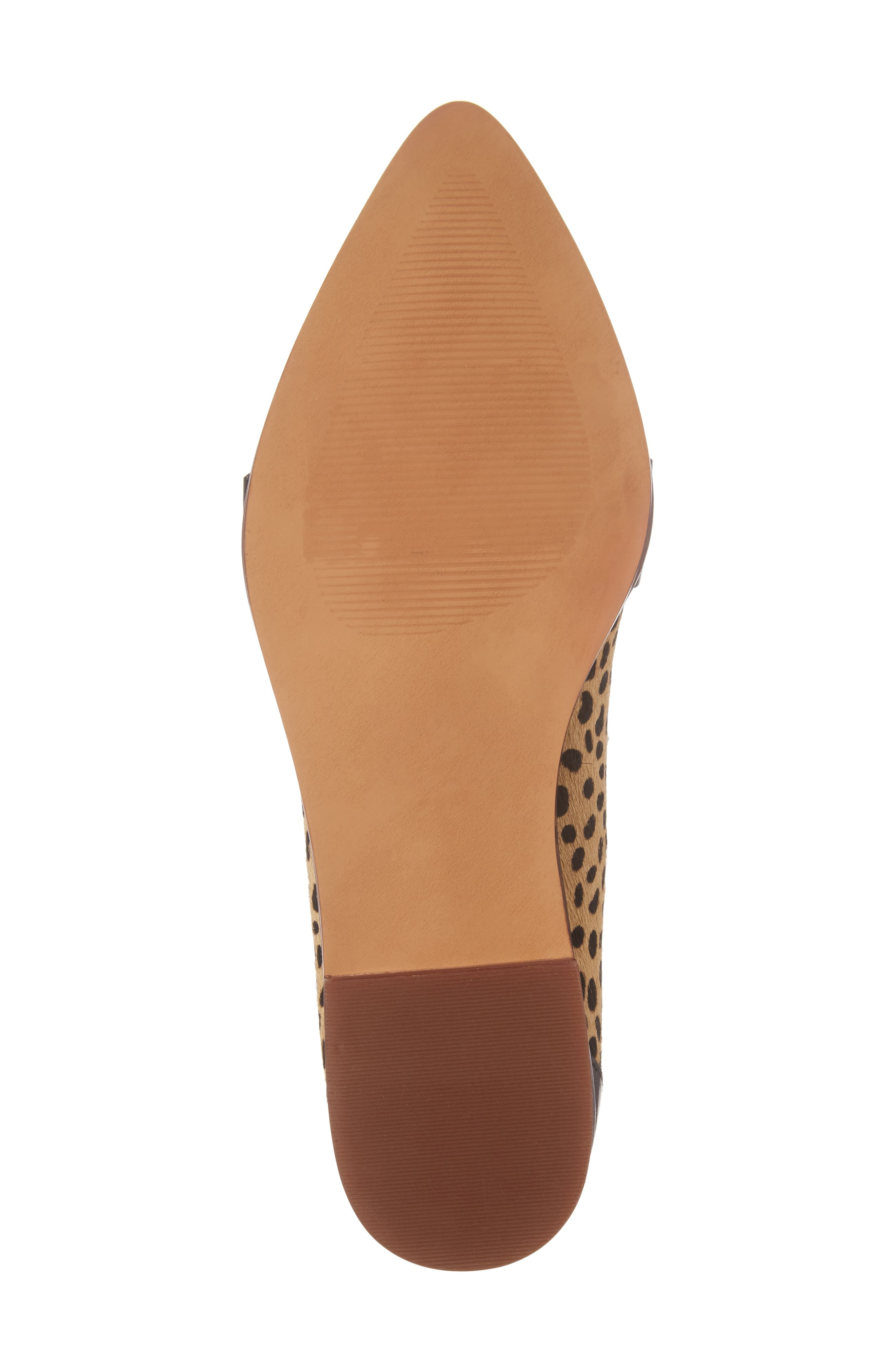 Edie Pointy Toe Loafer,                             Alternate thumbnail 5, color,                             Cheetah Calfhair