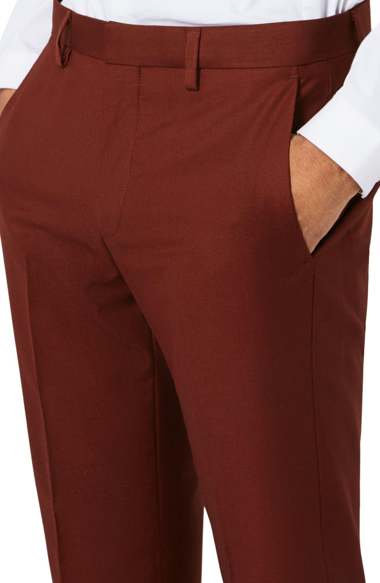 Alternate Image 4  - Topman Skinny Fit Suit Trousers