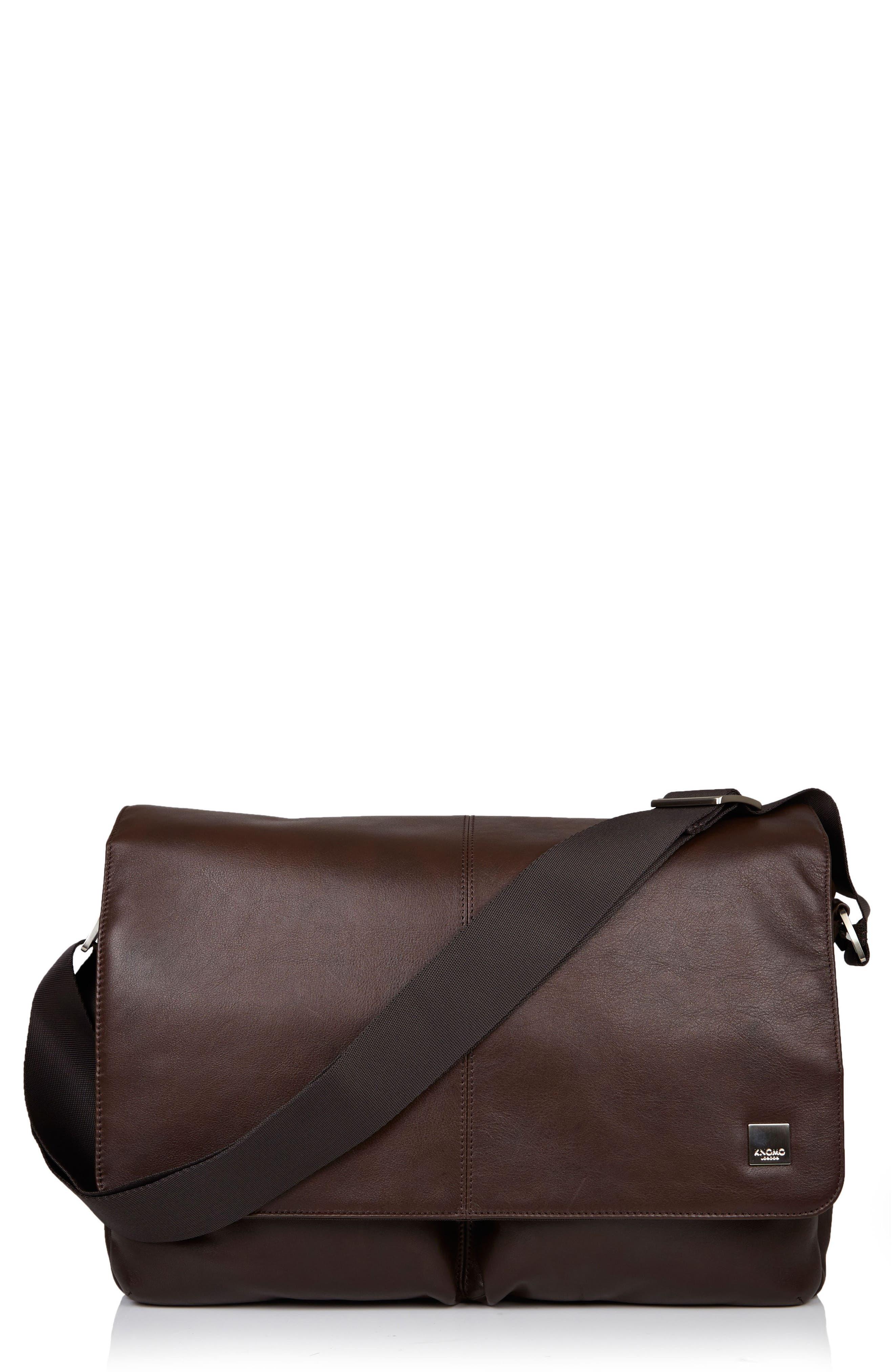 KNOMO LONDON Brompton Kobe RFID Leather Messenger Bag