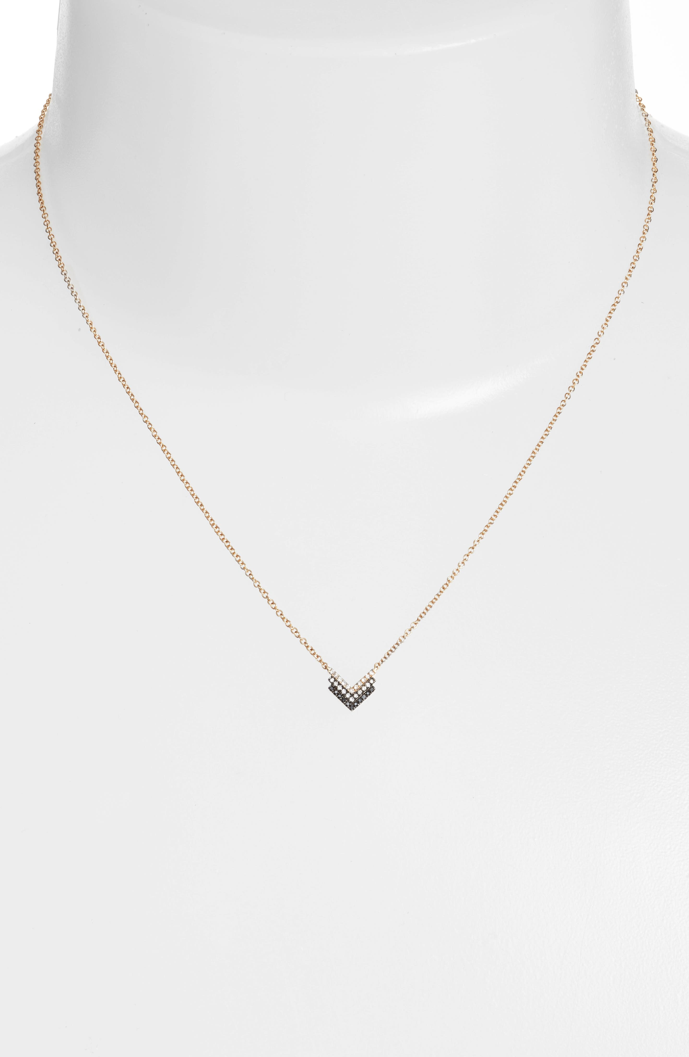 Alternate Image 2  - EF COLLECTION Diamond Shield Pendant Necklace