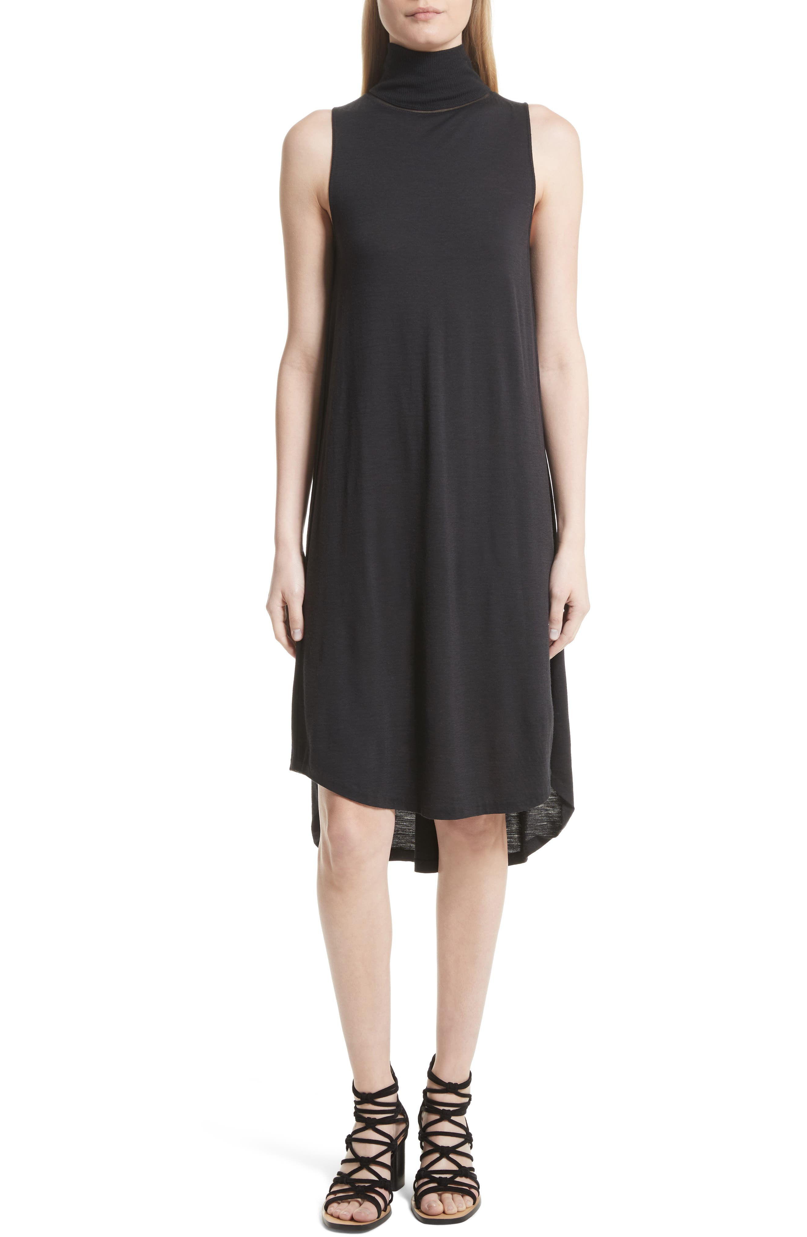 Nova Wool Turtleneck Dress,                         Main,                         color, Black