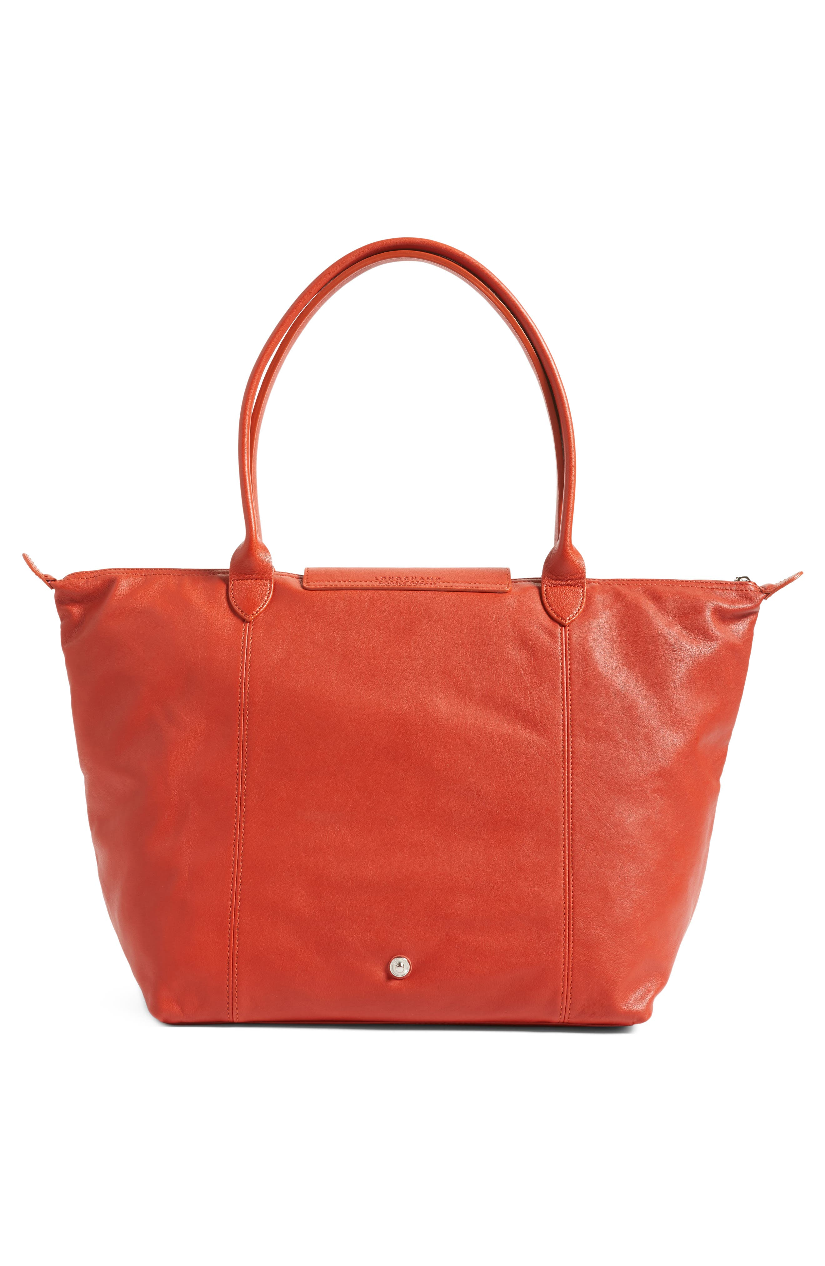 Alternate Image 3  - Longchamp Le Pliage Cuir Leather Tote (Nordstrom Exclusive)