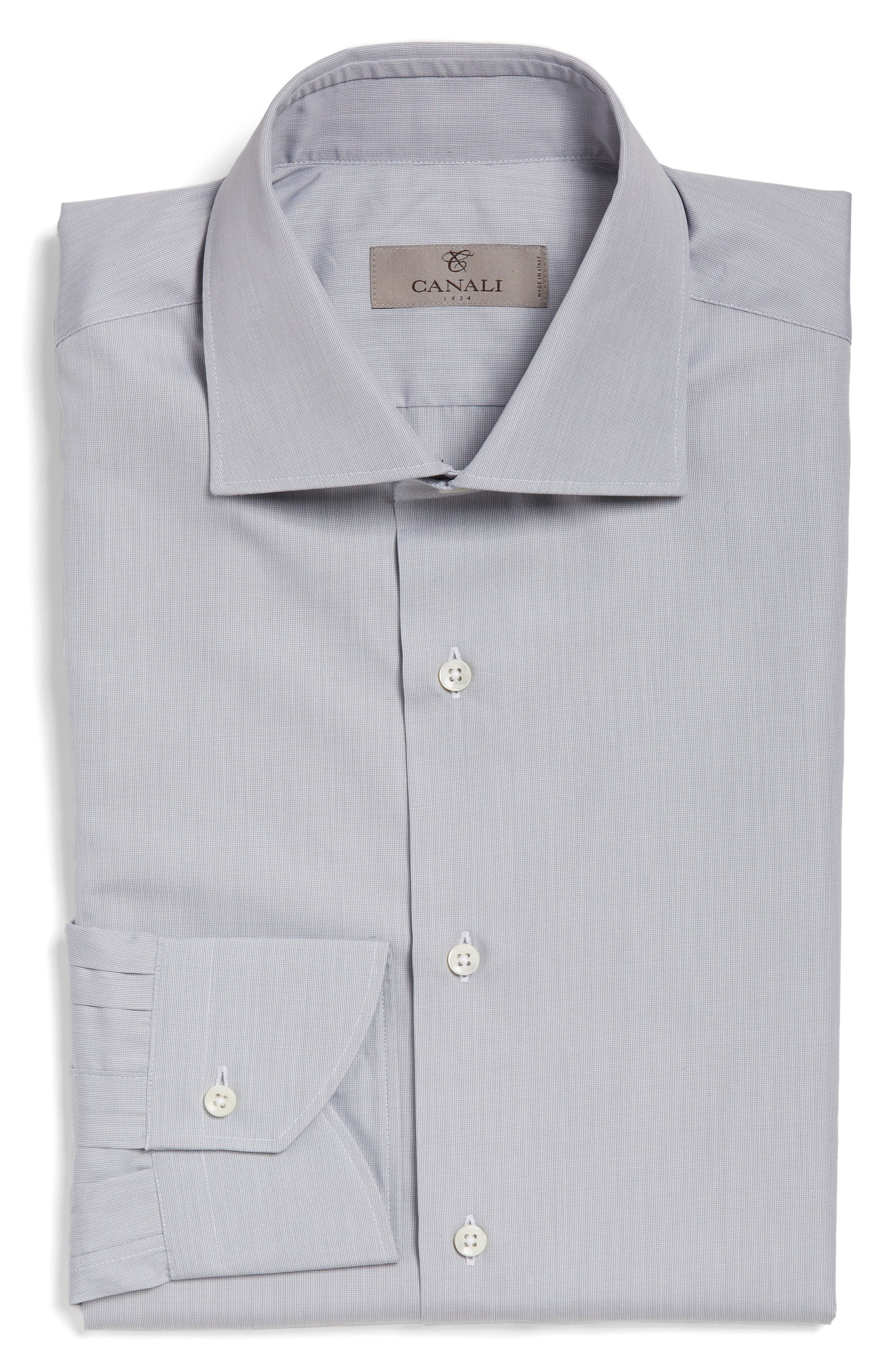 Regular Fit Solid Dress Shirt,                         Main,                         color, Light Grey