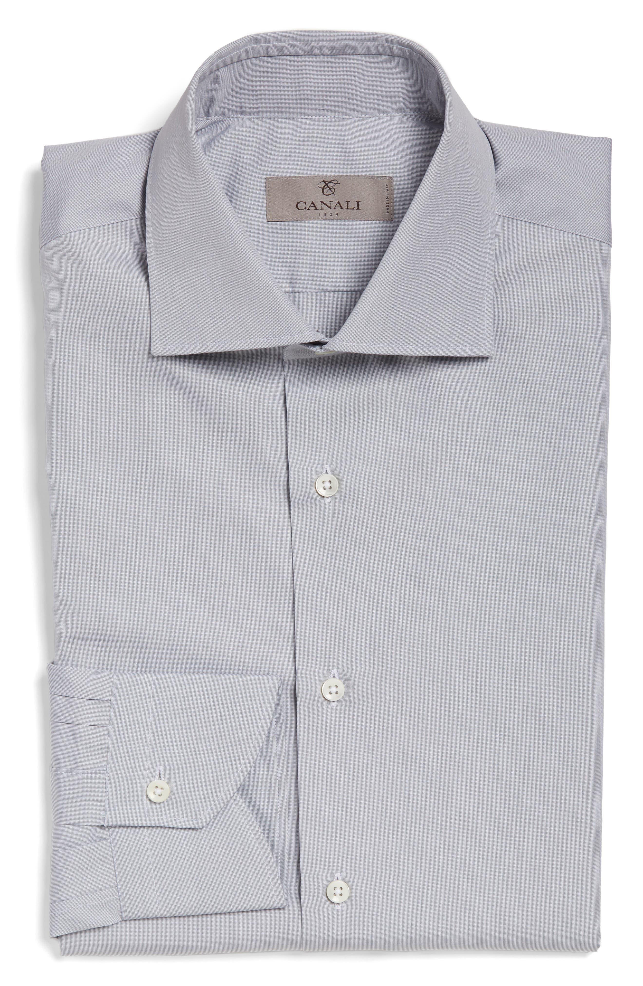 Canali Regular Fit Solid Dress Shirt