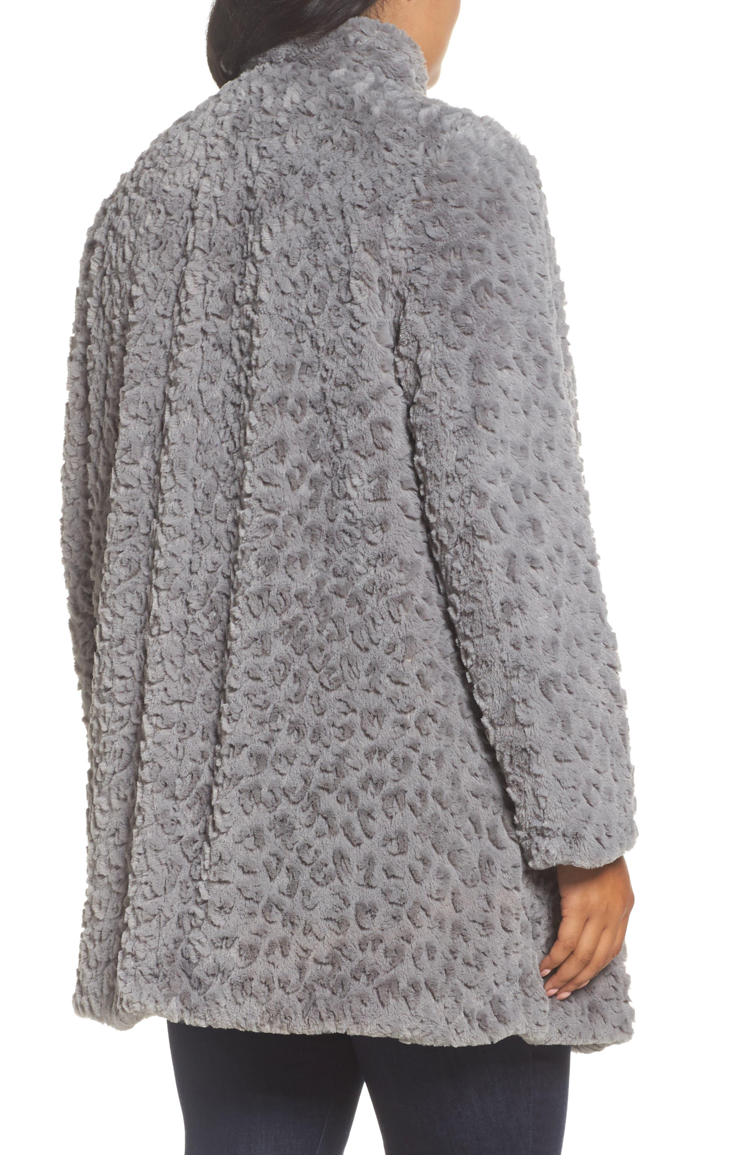 Faux Fur Jacket,                             Alternate thumbnail 2, color,                             Grey