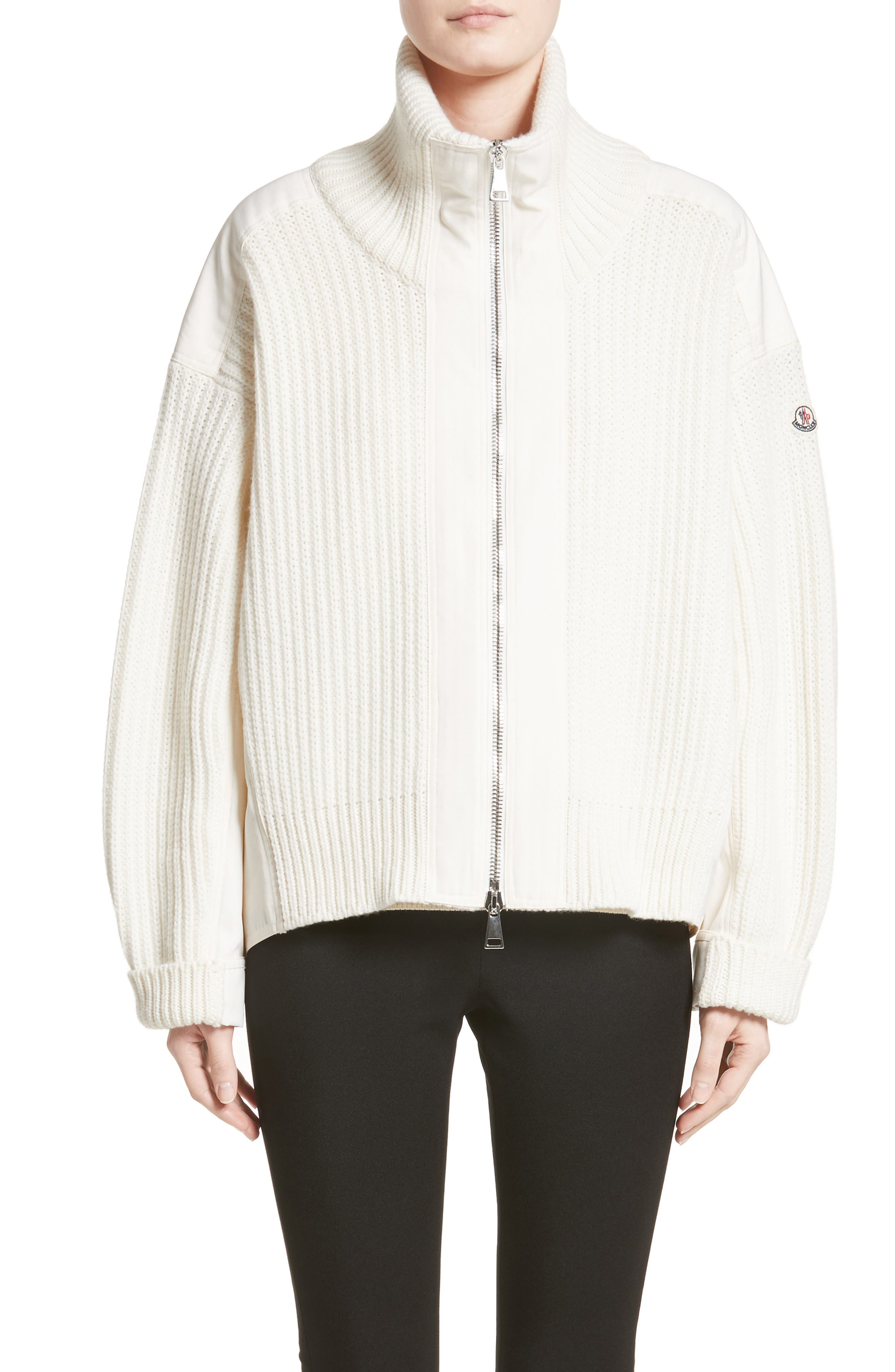 Alternate Image 1 Selected - Moncler Wool & Cashmere Cardigan