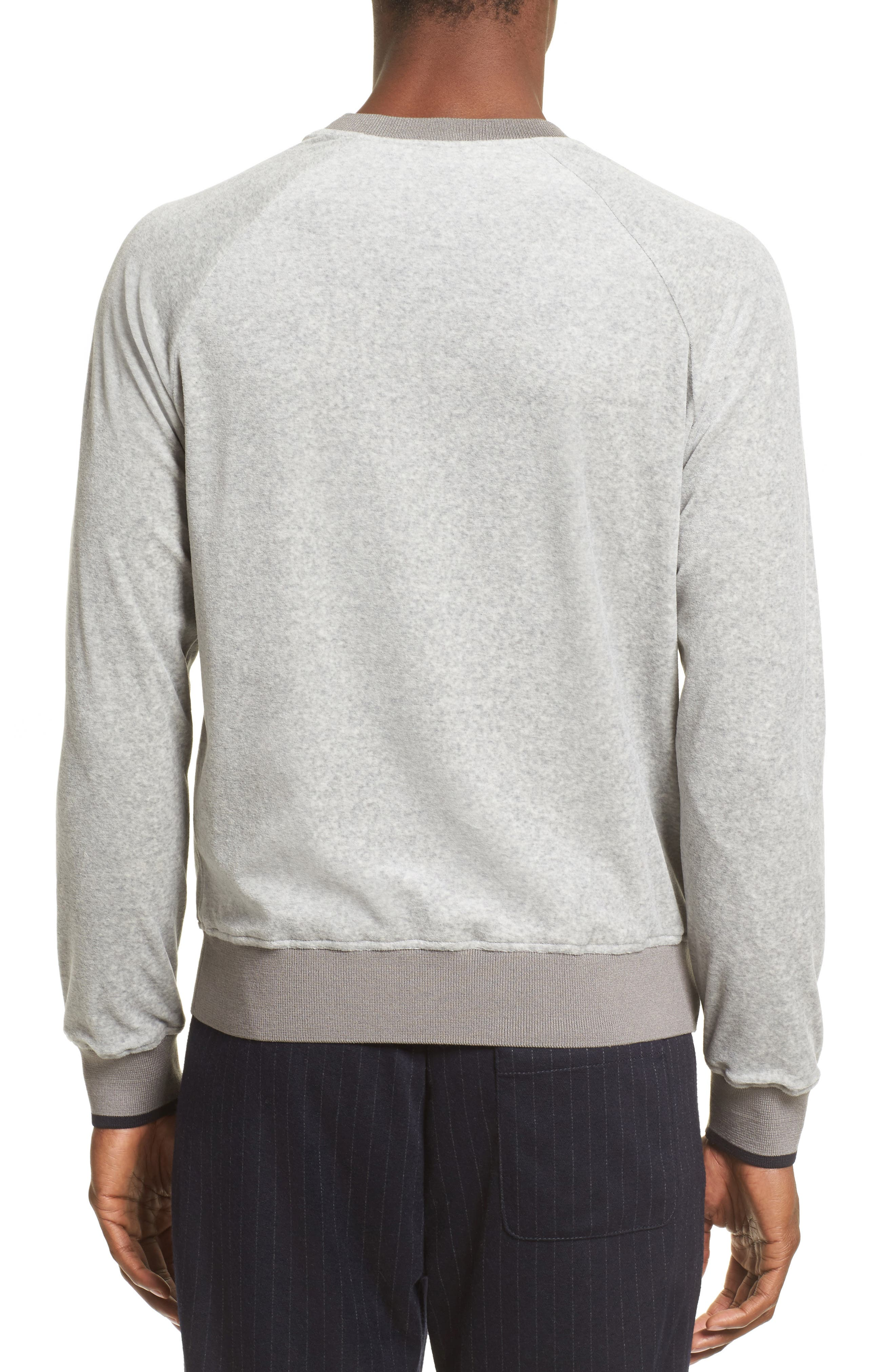 Velour Sweatshirt,                             Alternate thumbnail 2, color,                             Light Grey