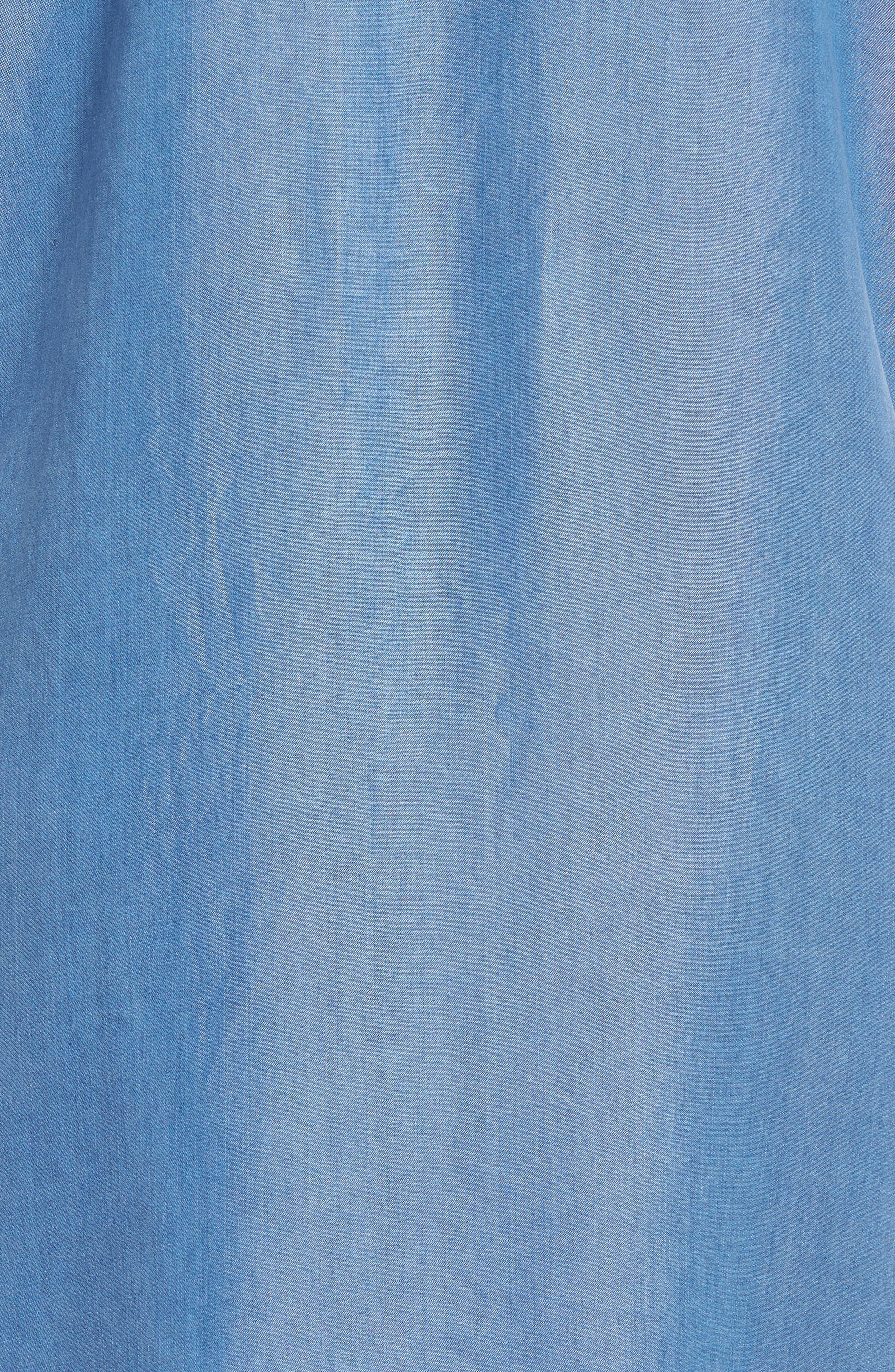 Alternate Image 5  - Caslon® Lace-Up Shift Dress (Regular & Petite)