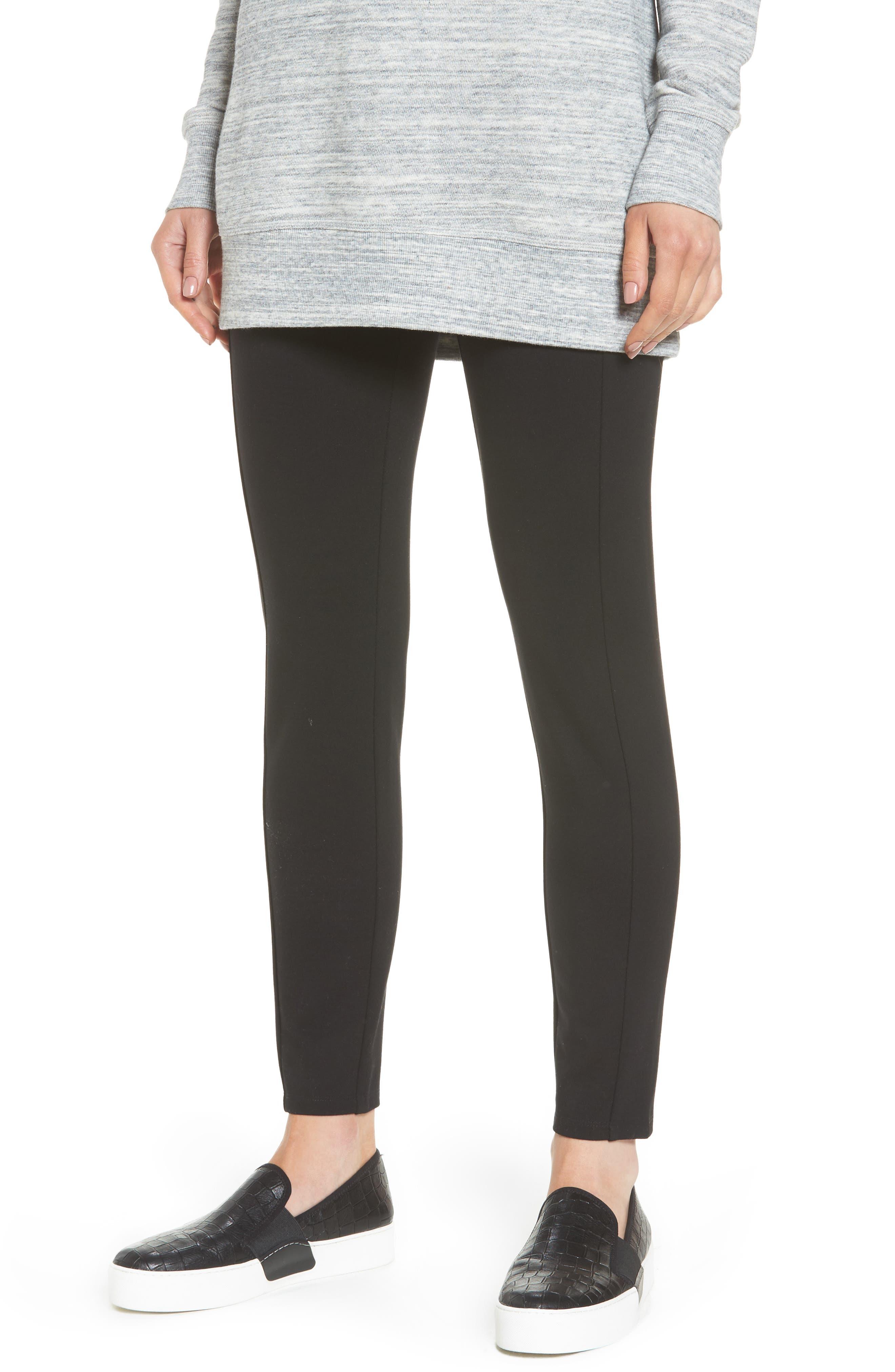 Main Image - Halogen® Skinny Ponte Knit Pants (Regular & Petite)