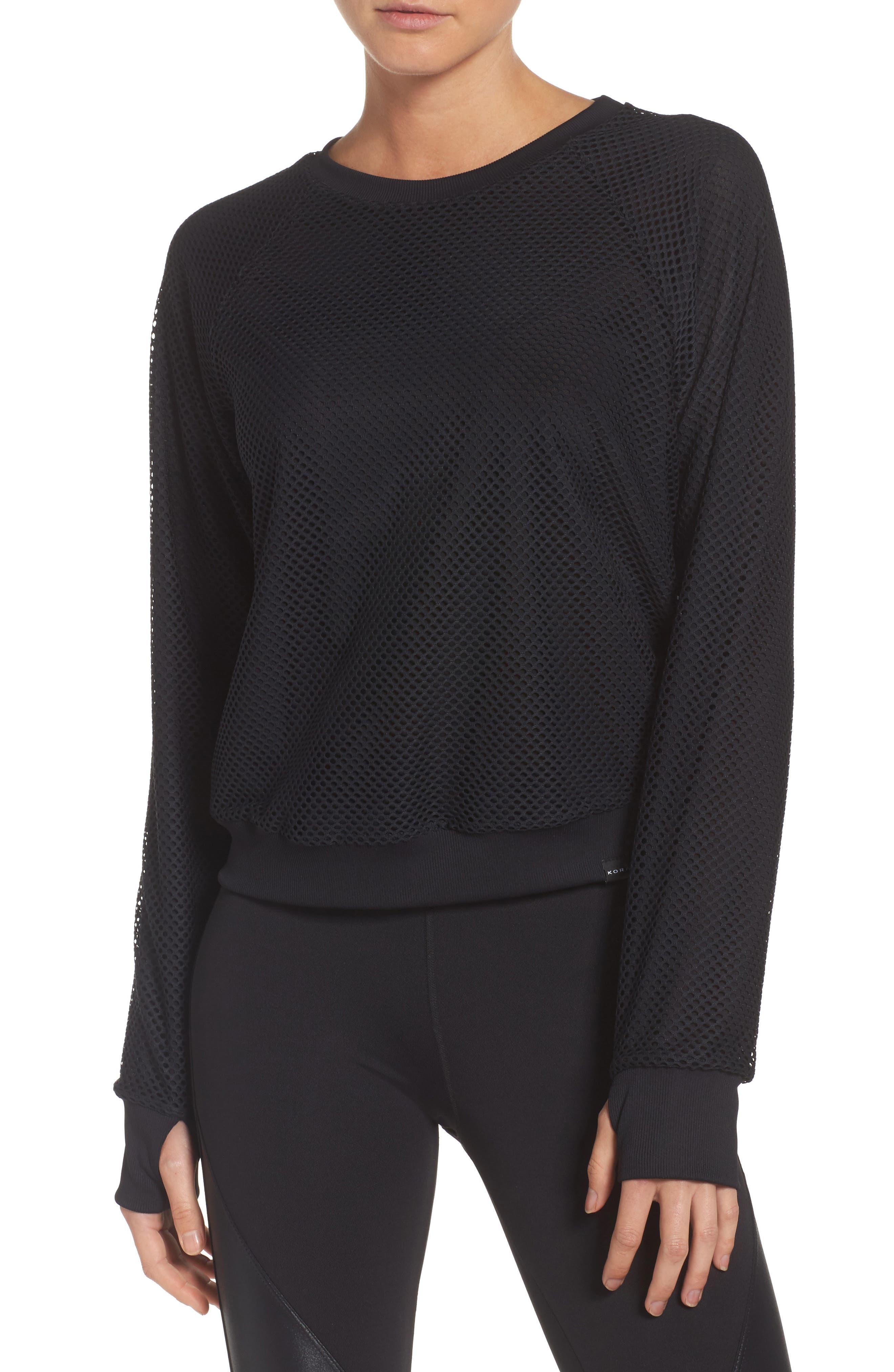 Sofia Crop Pullover,                         Main,                         color, Black