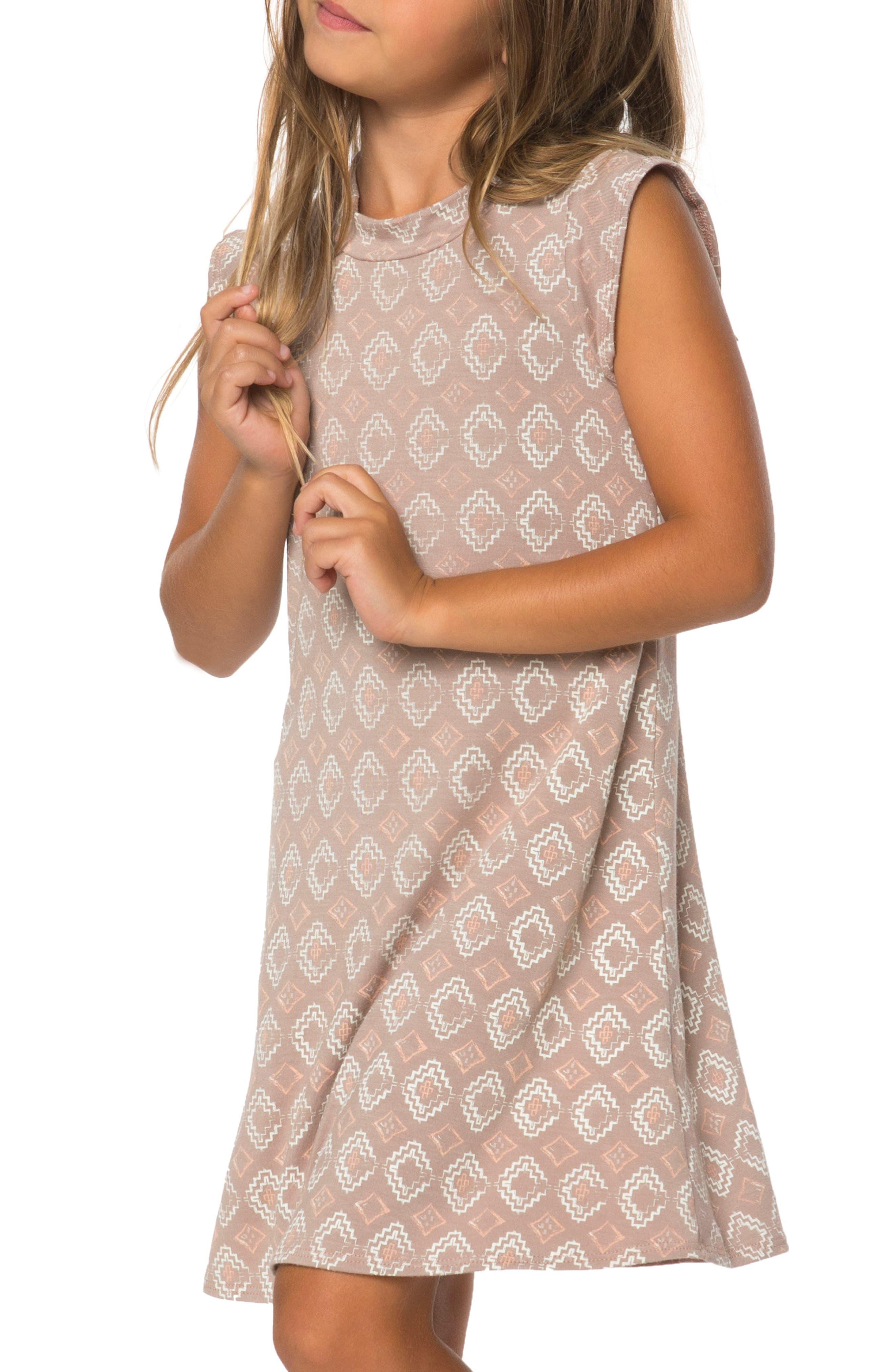 Rosa Print Dress,                         Main,                         color, Stucco