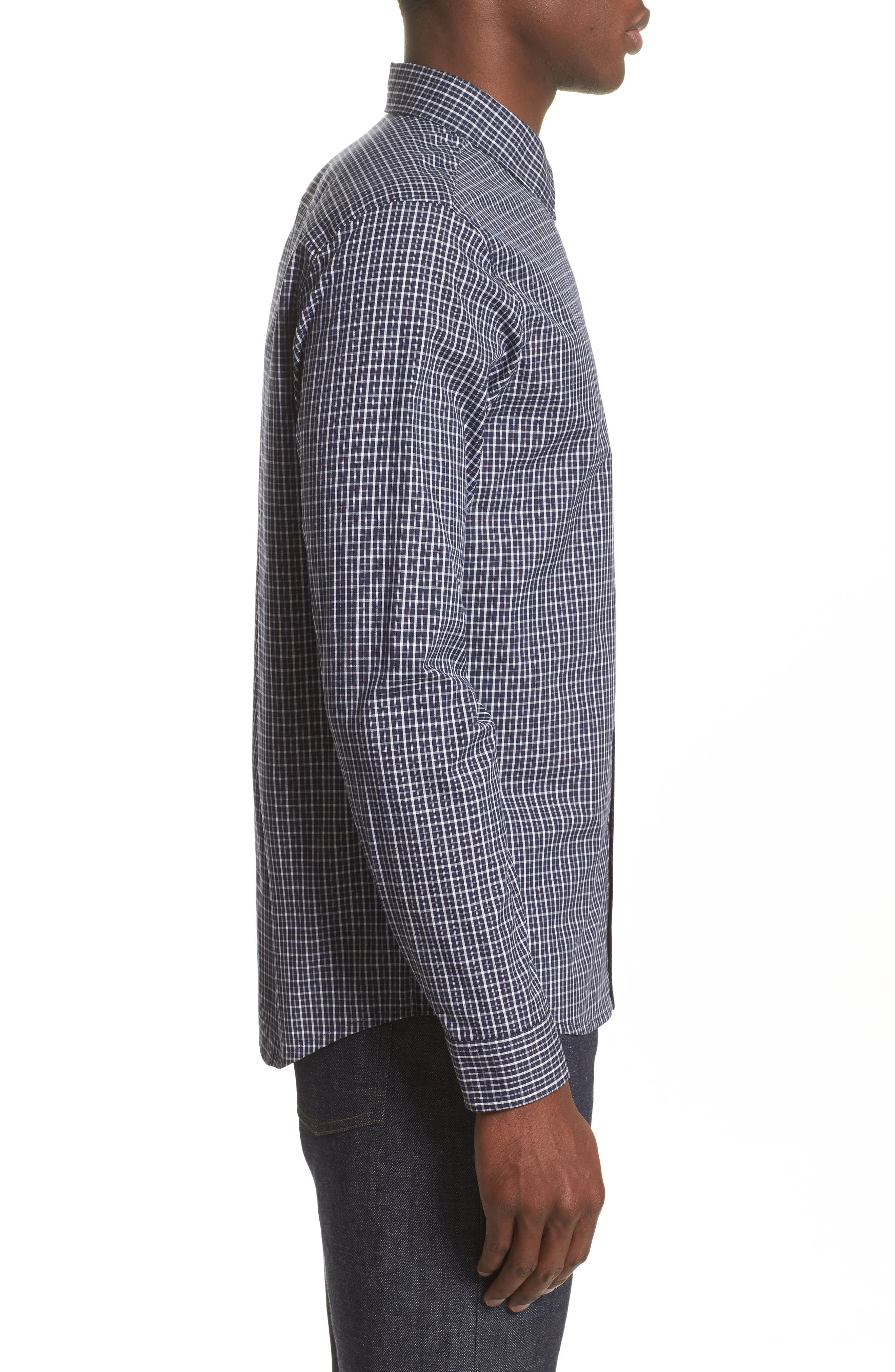Alternate Image 3  - A.P.C. Chemise Trek Woven Check Sport Shirt