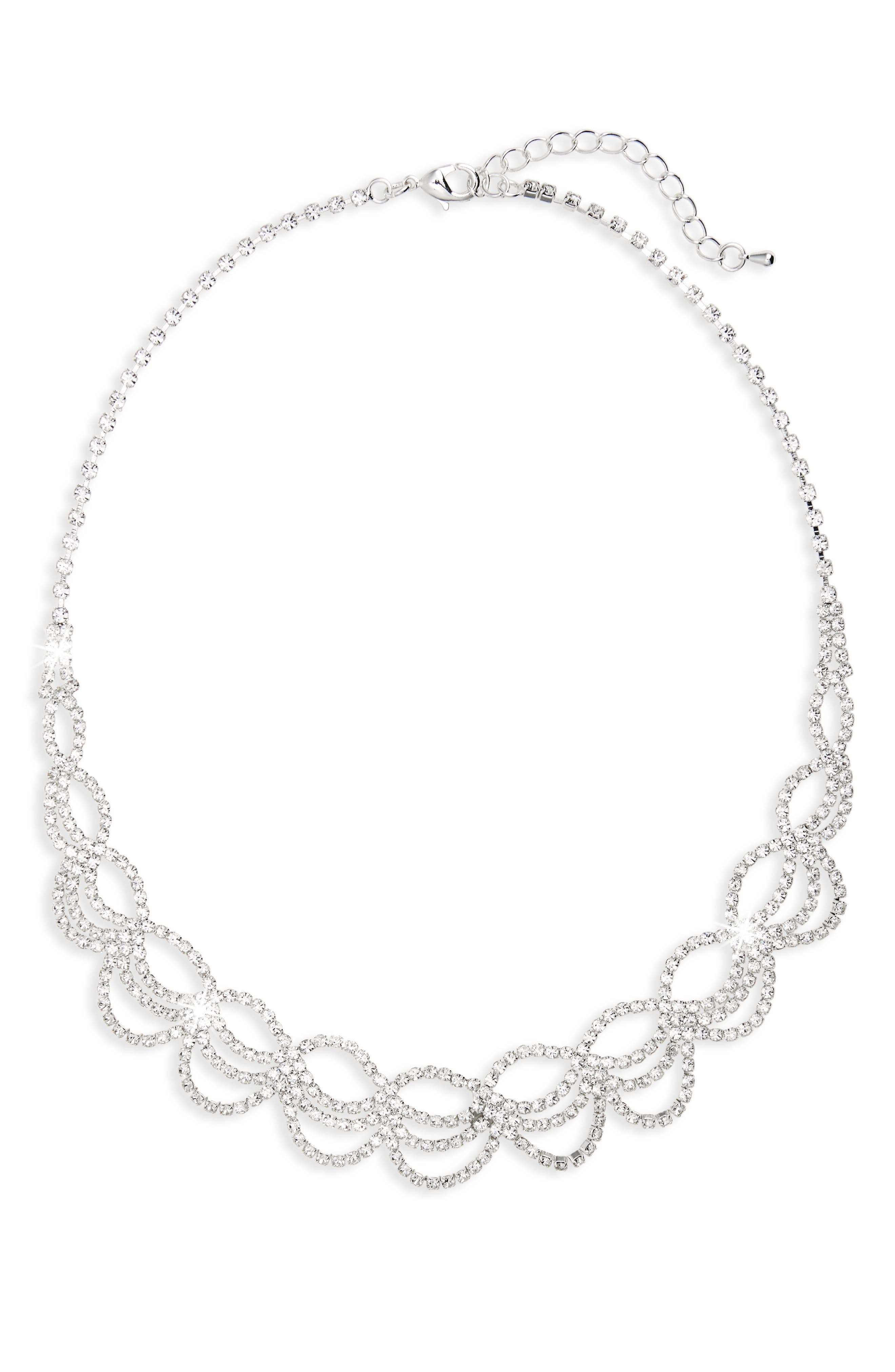 Main Image - Nina Swag Crystal Drama Collar Necklace