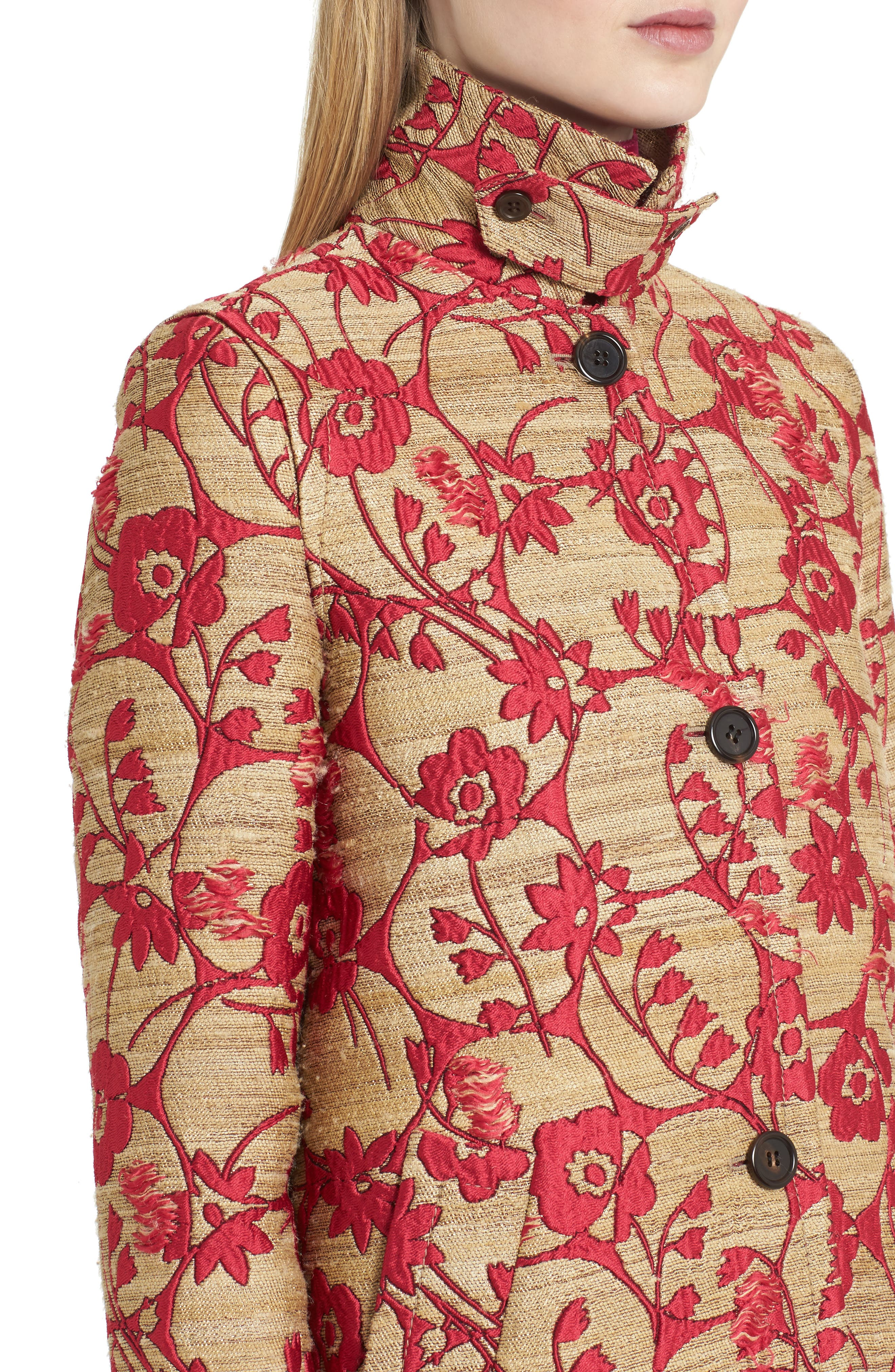 Alternate Image 5  - Valentino Flower Circles Jacquard Coat