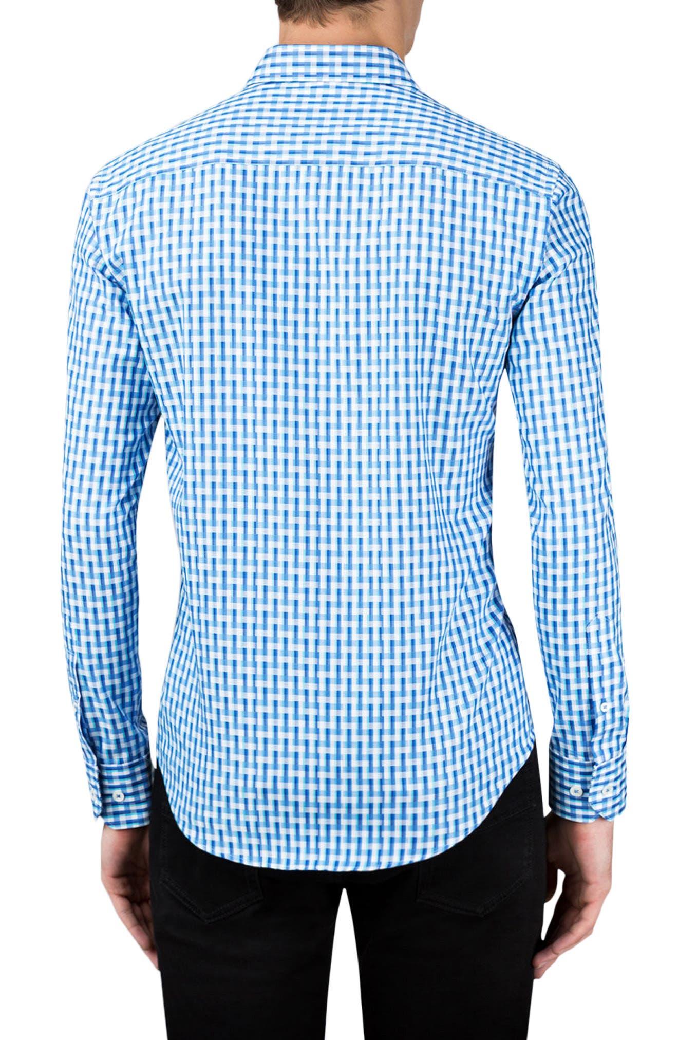 Shaped Fit Sport Shirt,                             Alternate thumbnail 2, color,                             Classic Blue