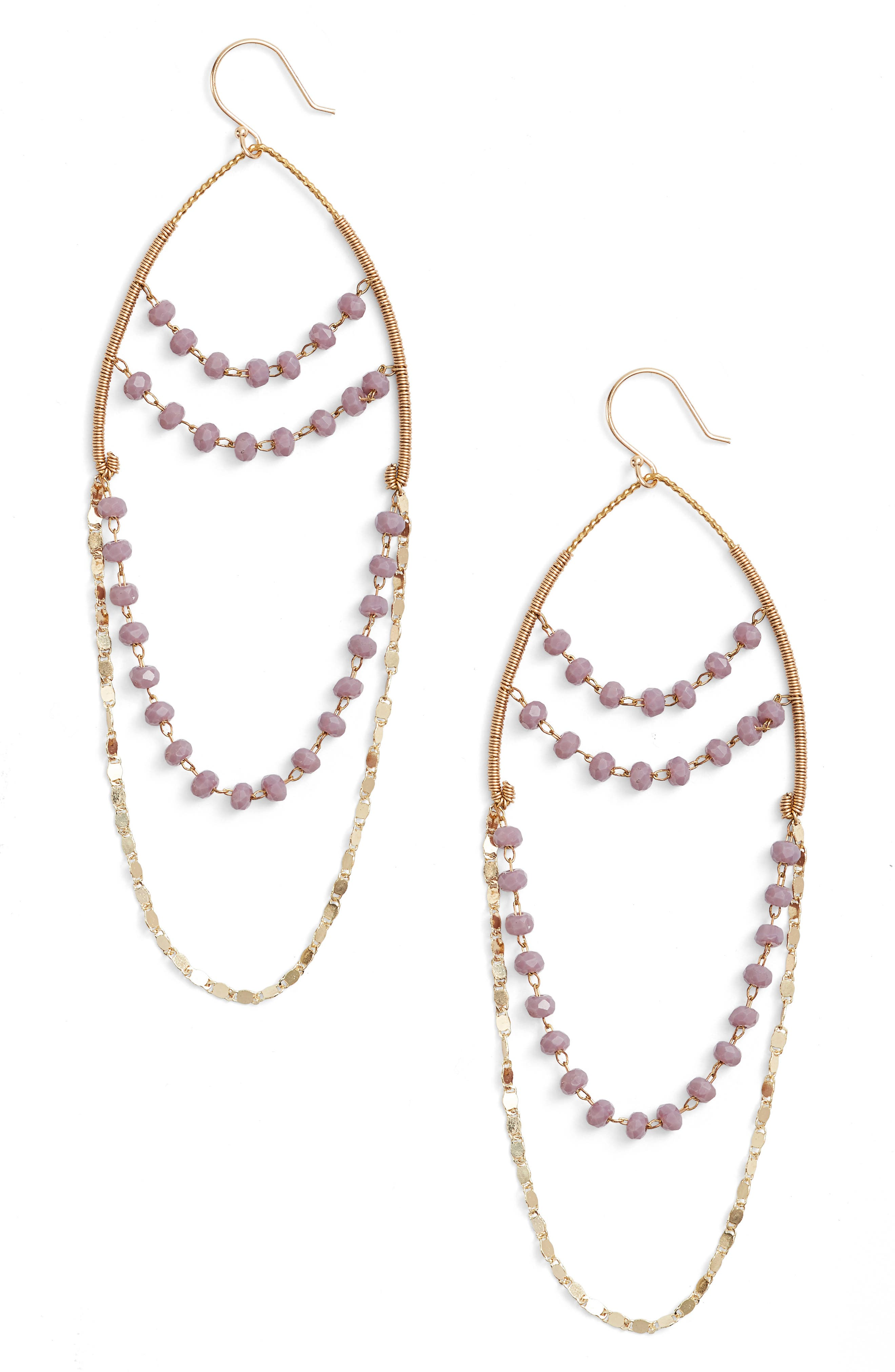 Main Image - Serefina Beaded Chandelier Drop Earrings