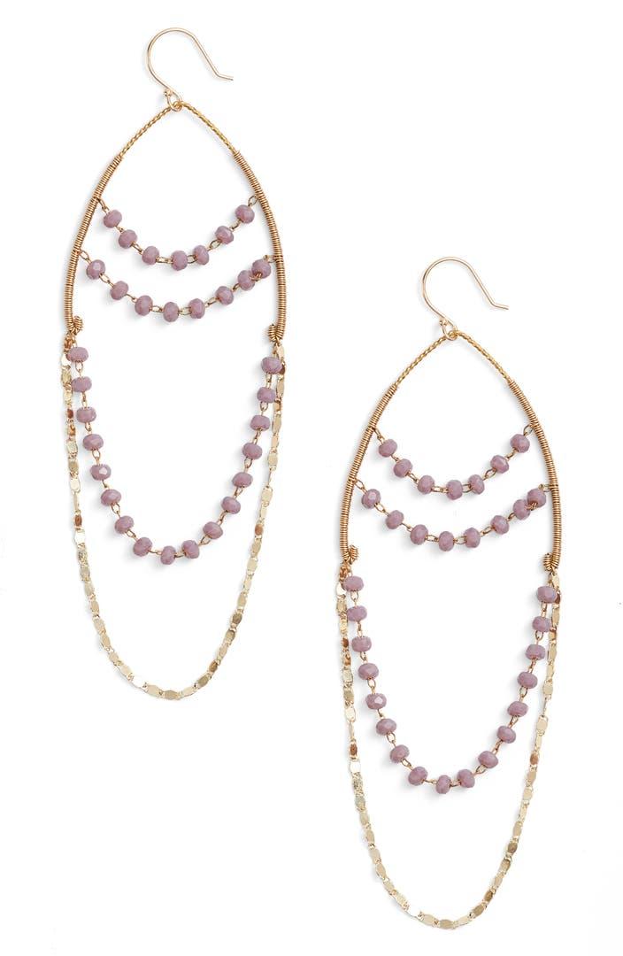Serefina beaded chandelier drop earrings nordstrom for Same day custom t shirts near me