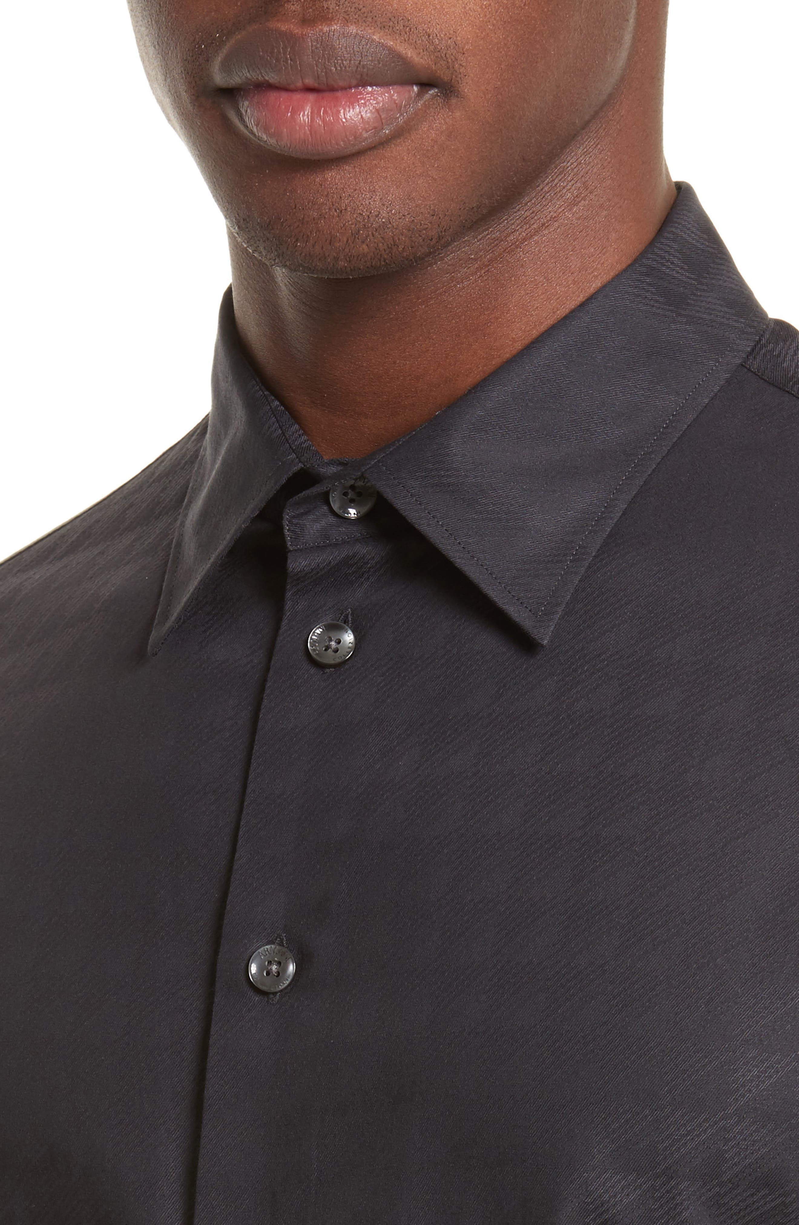 Regular Fit Geo Print Sport Shirt,                             Alternate thumbnail 2, color,                             Fancy Black