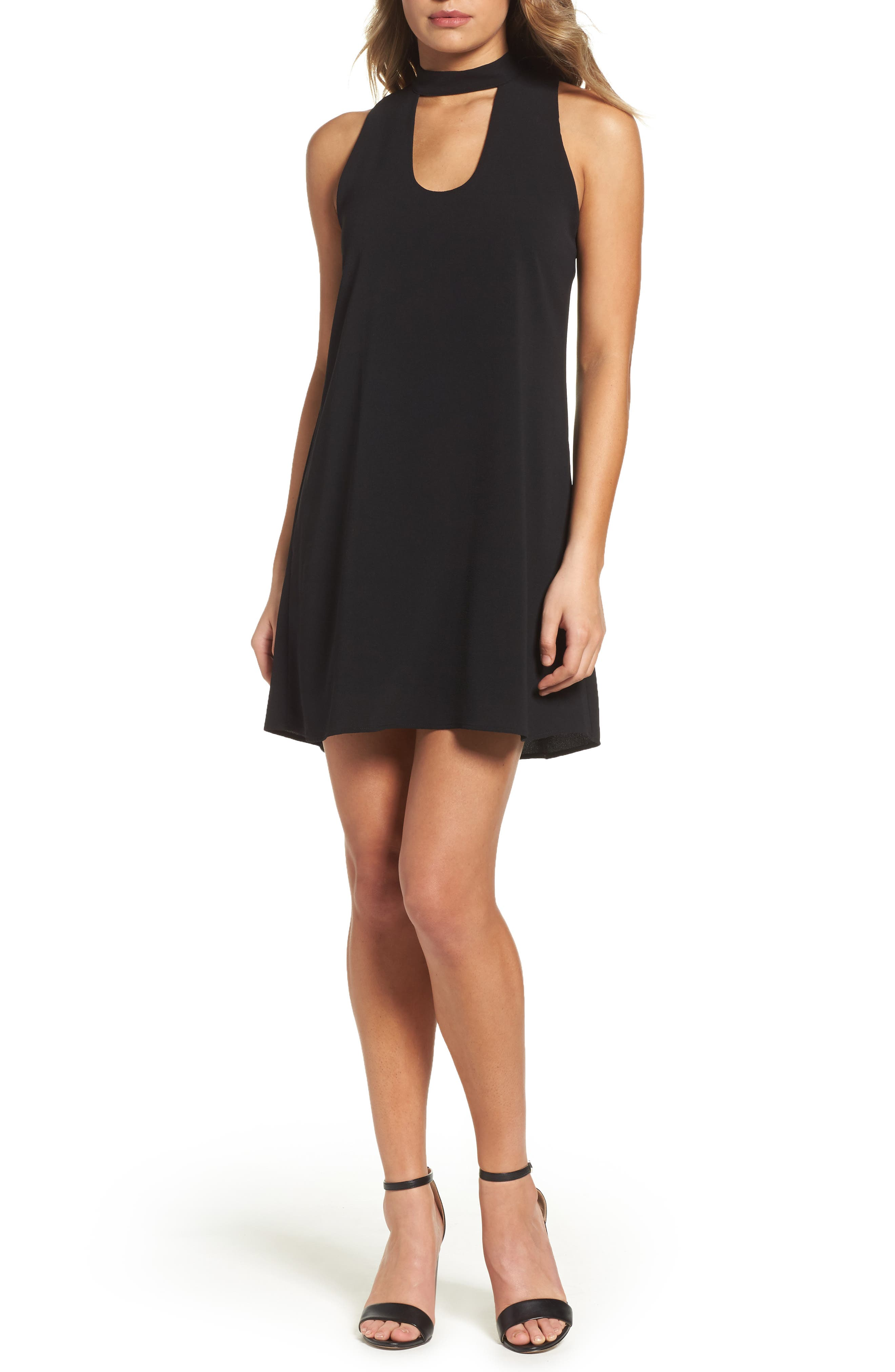 Mary & Maybel Swing Dress,                         Main,                         color, Black