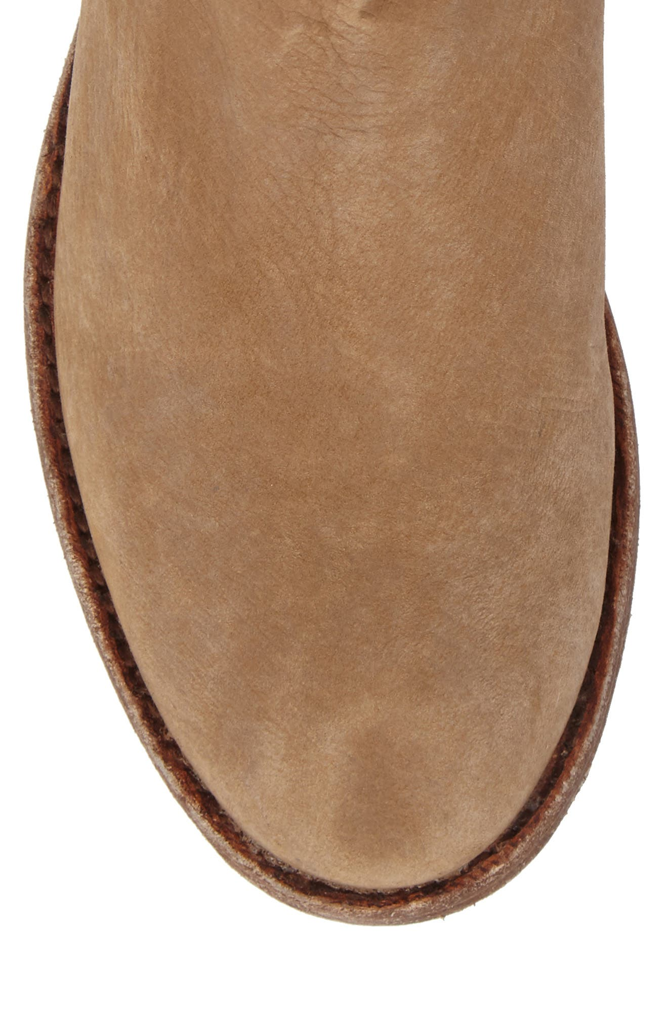 'Gerald' Distressed Bootie,                             Alternate thumbnail 5, color,                             Natural Leather