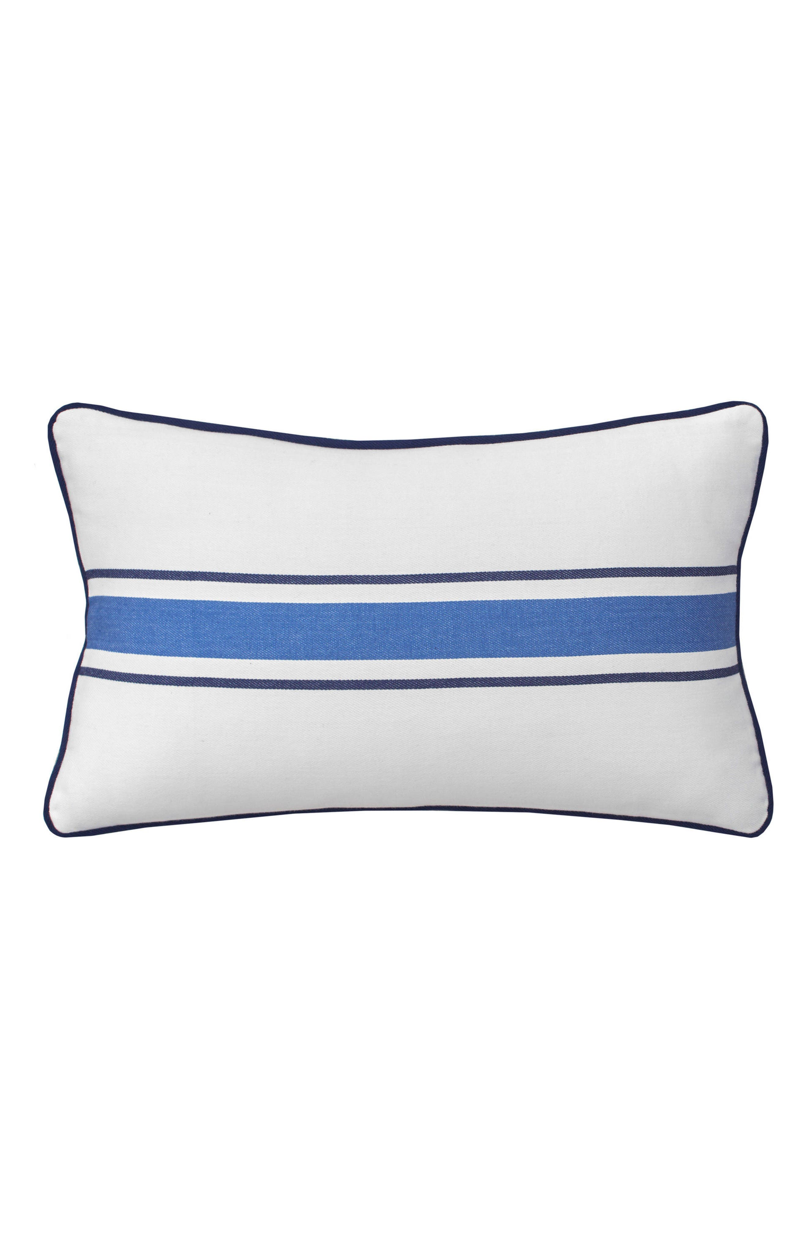 Dock Street Stripe Accent Pillow,                             Main thumbnail 1, color,                             White