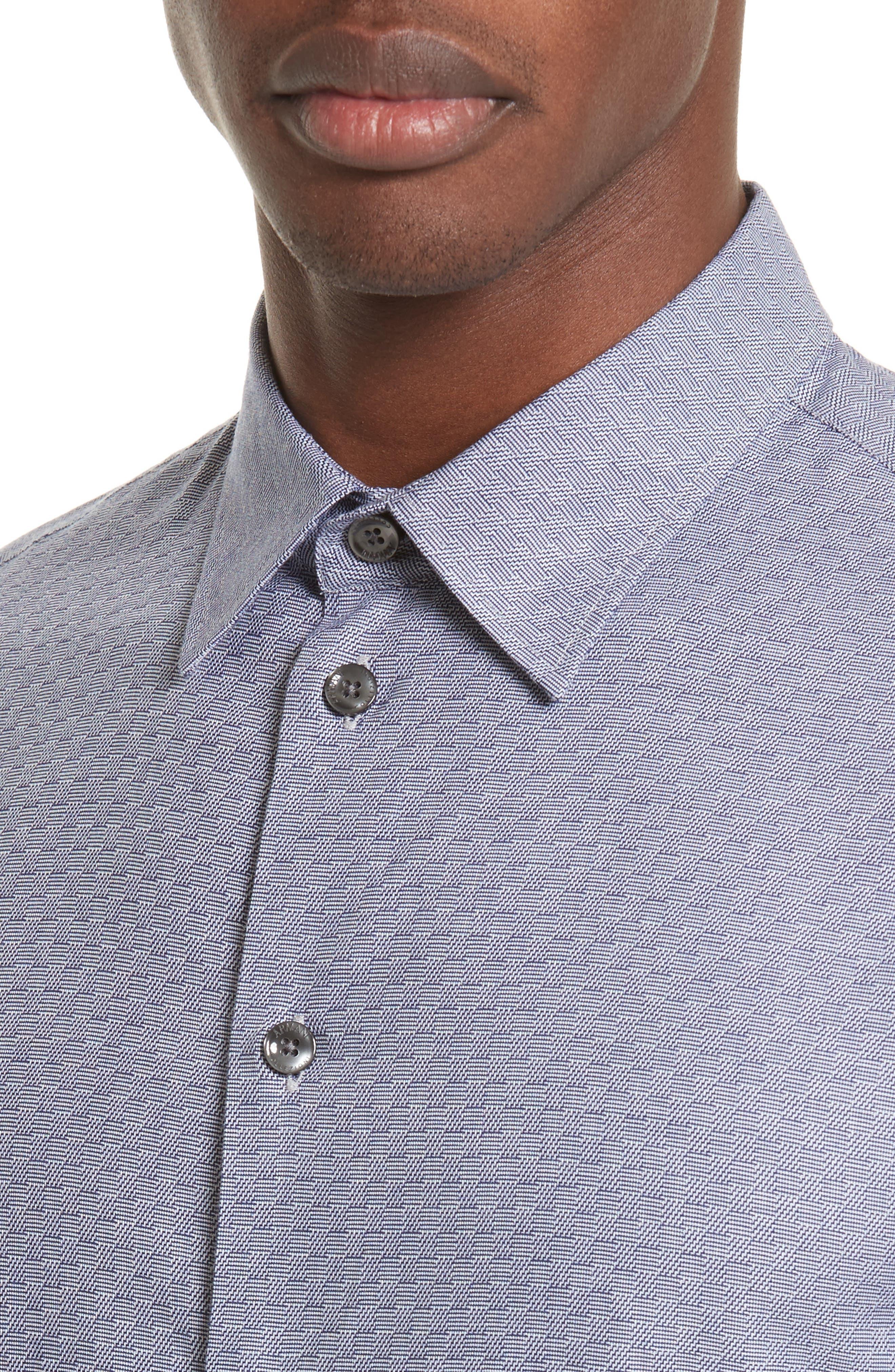 Alternate Image 4  - Armani Collezioni Geo Jacquard Sport Shirt