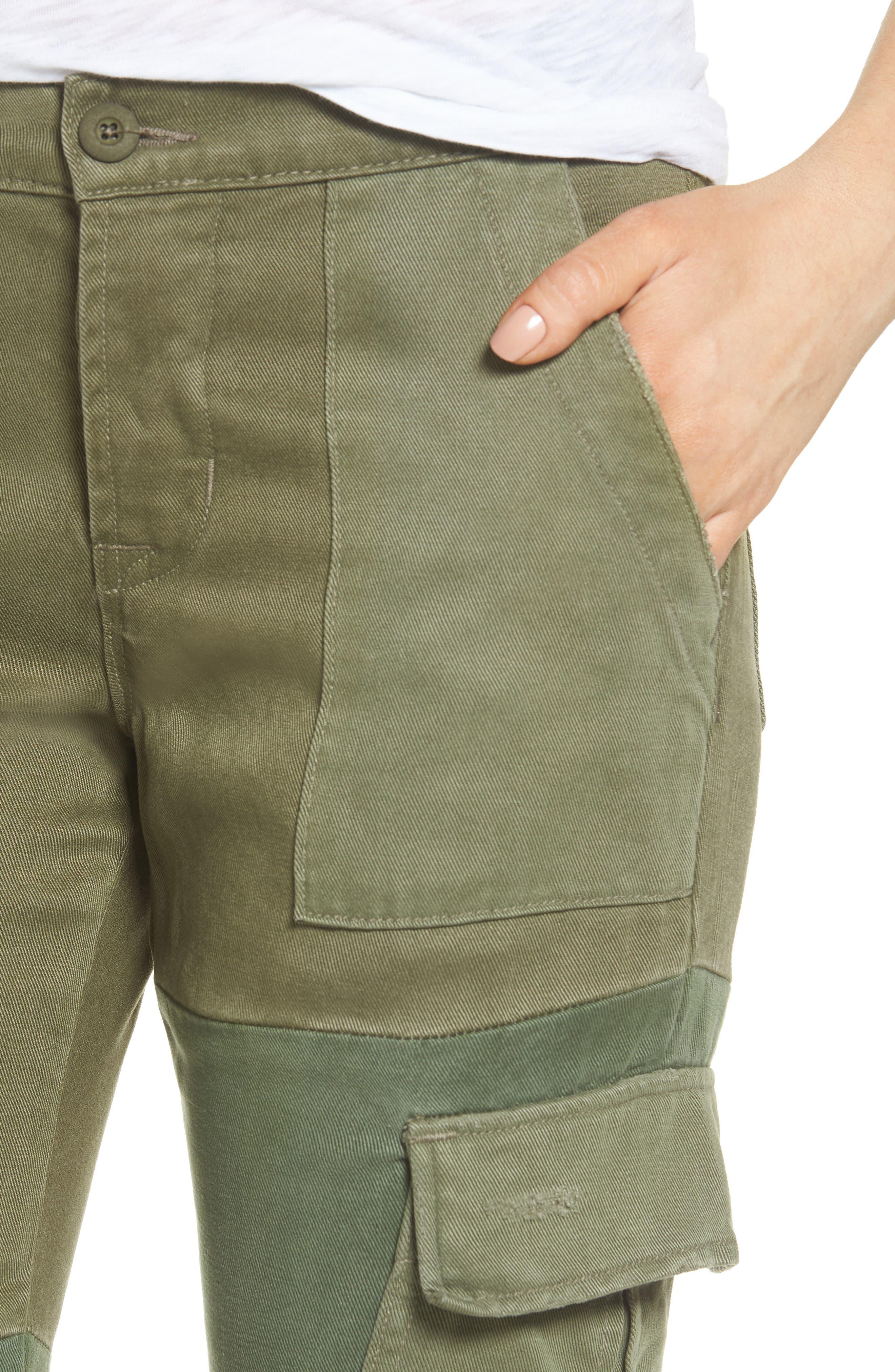 Riley Straight Leg Cargo Pants,                             Alternate thumbnail 4, color,                             Utility Remix