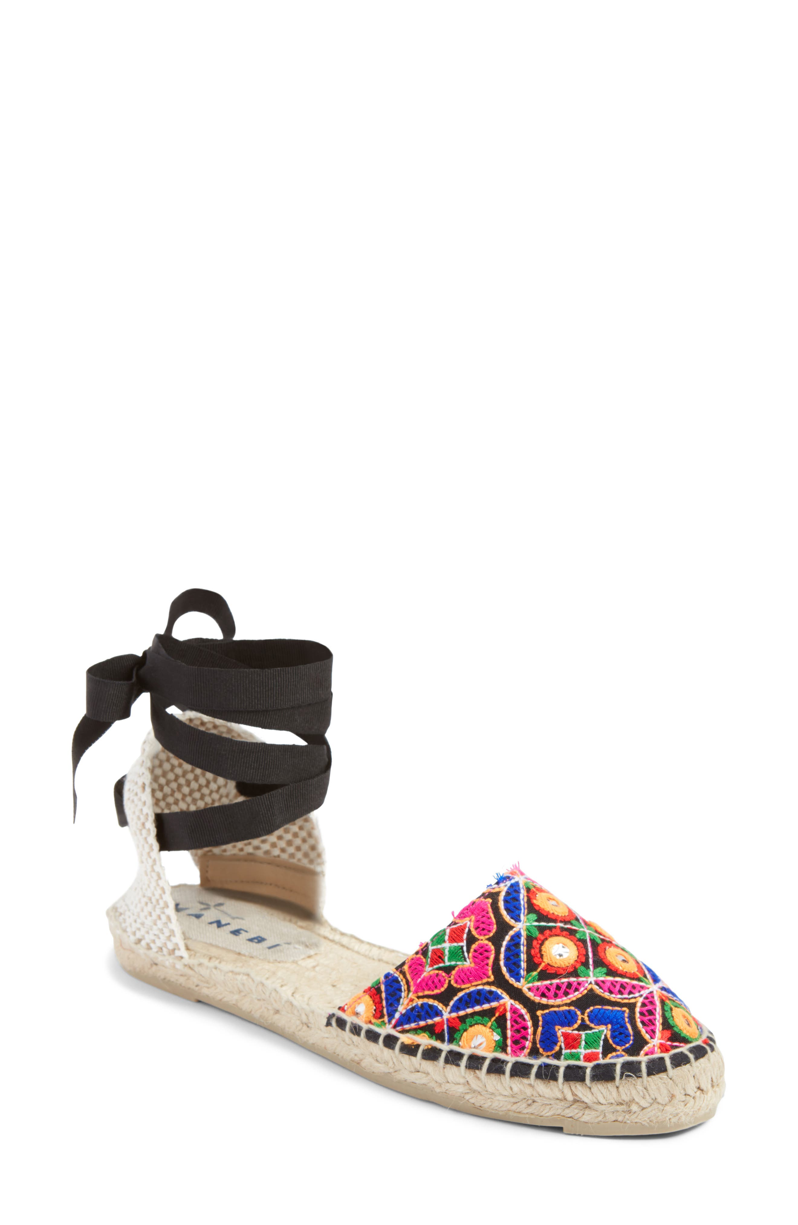 MANEBÍ Rajasthan Espadrille Sandal,                             Main thumbnail 1, color,                             Indian Fabric