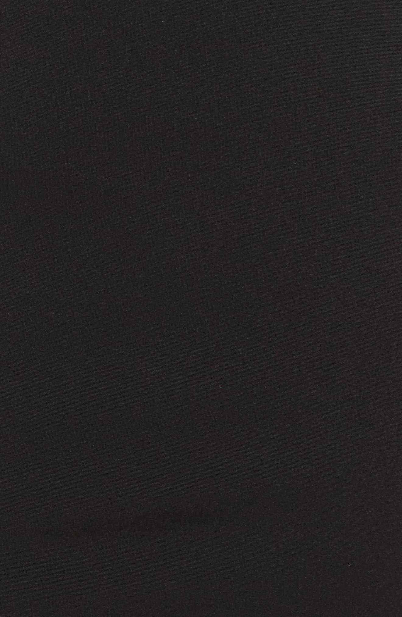 Orlanda Ponte Knit Sheath Dress,                             Alternate thumbnail 5, color,                             Black/ White
