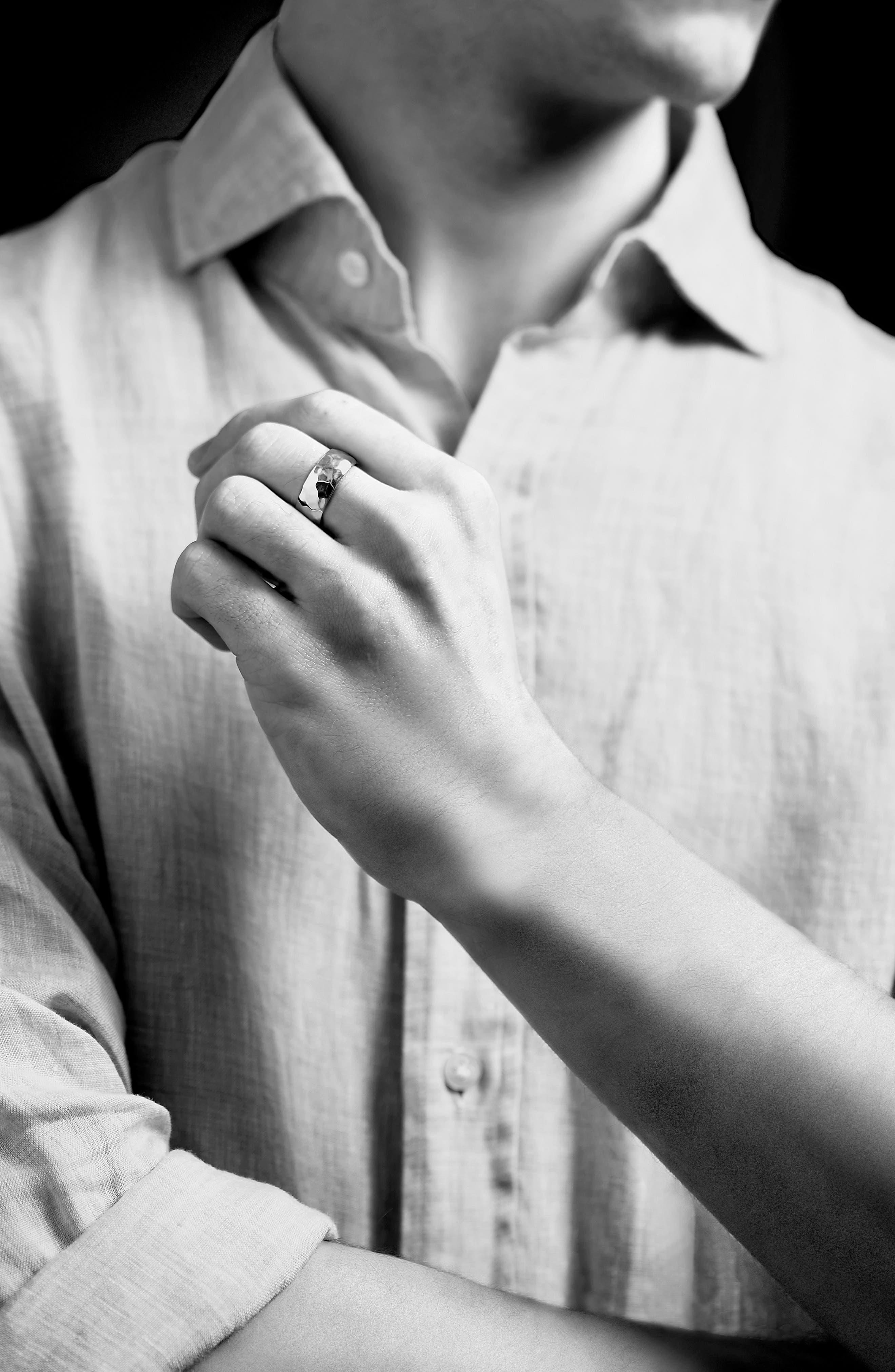 Alternate Image 2  - Monica Vinader Alta Hammered Ring