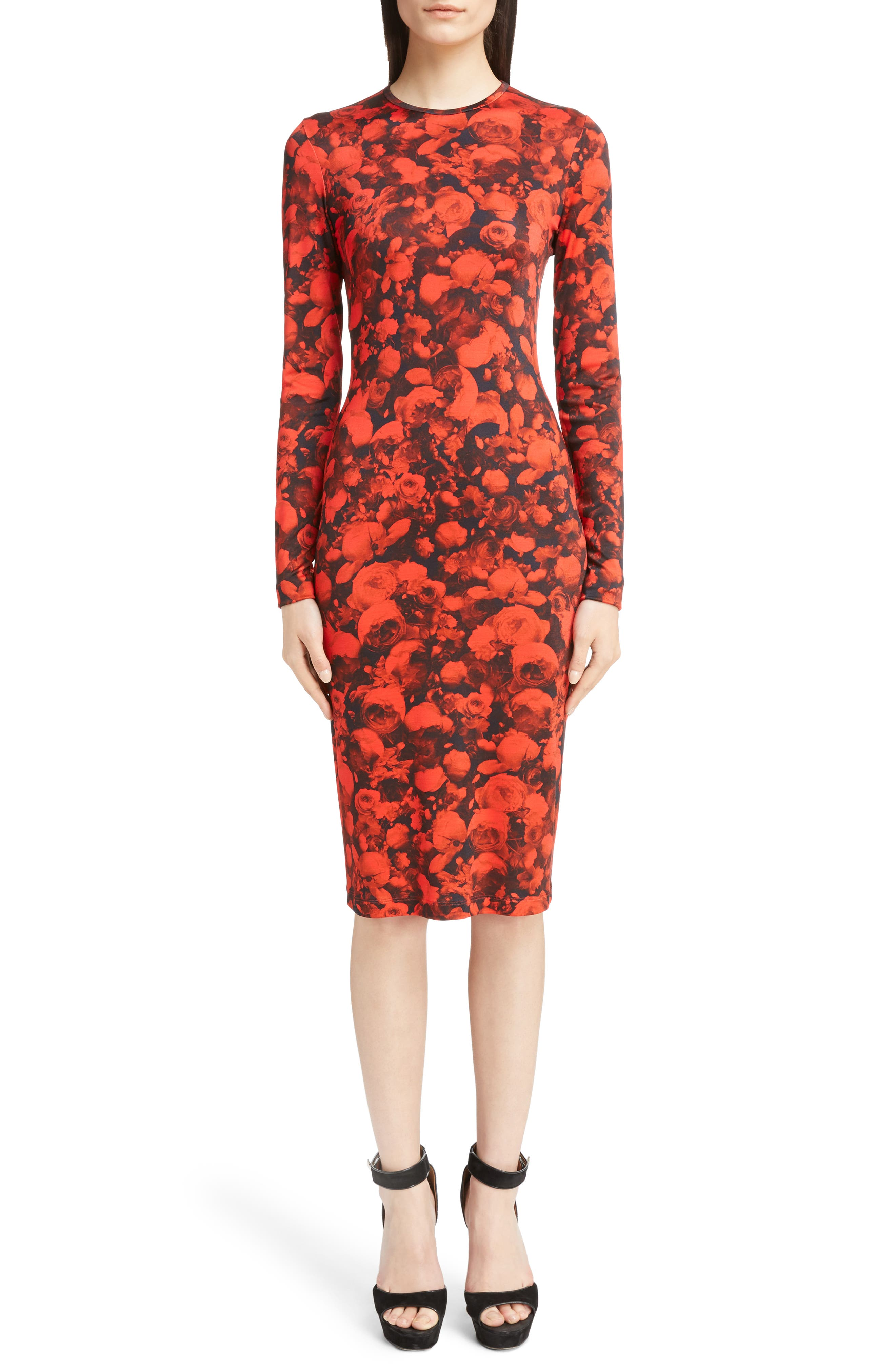 Givenchy Rose Print Jersey Dress