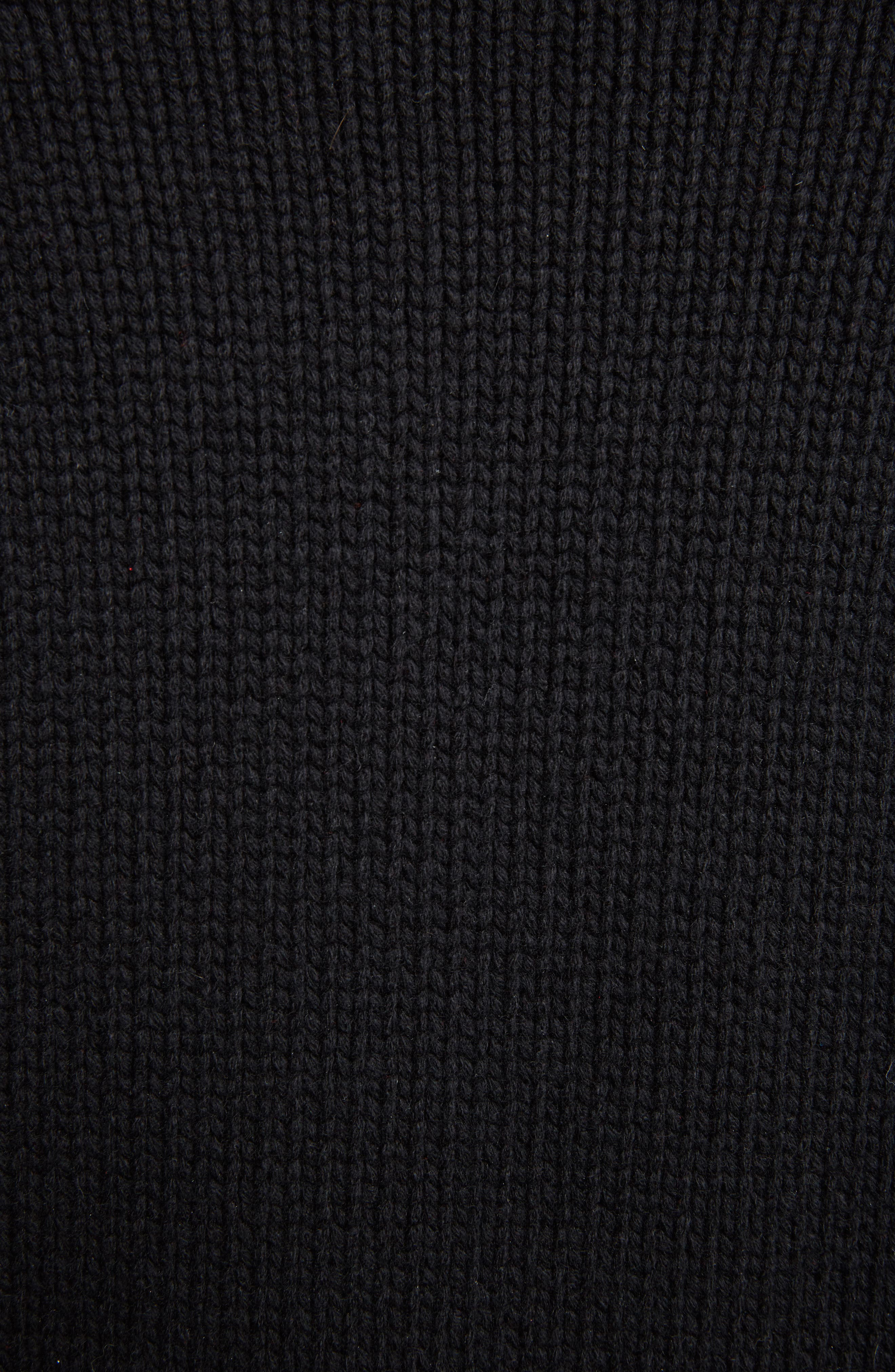 Alternate Image 6  - Alexander McQueen Stitch Detail Cashmere Turtleneck Sweater