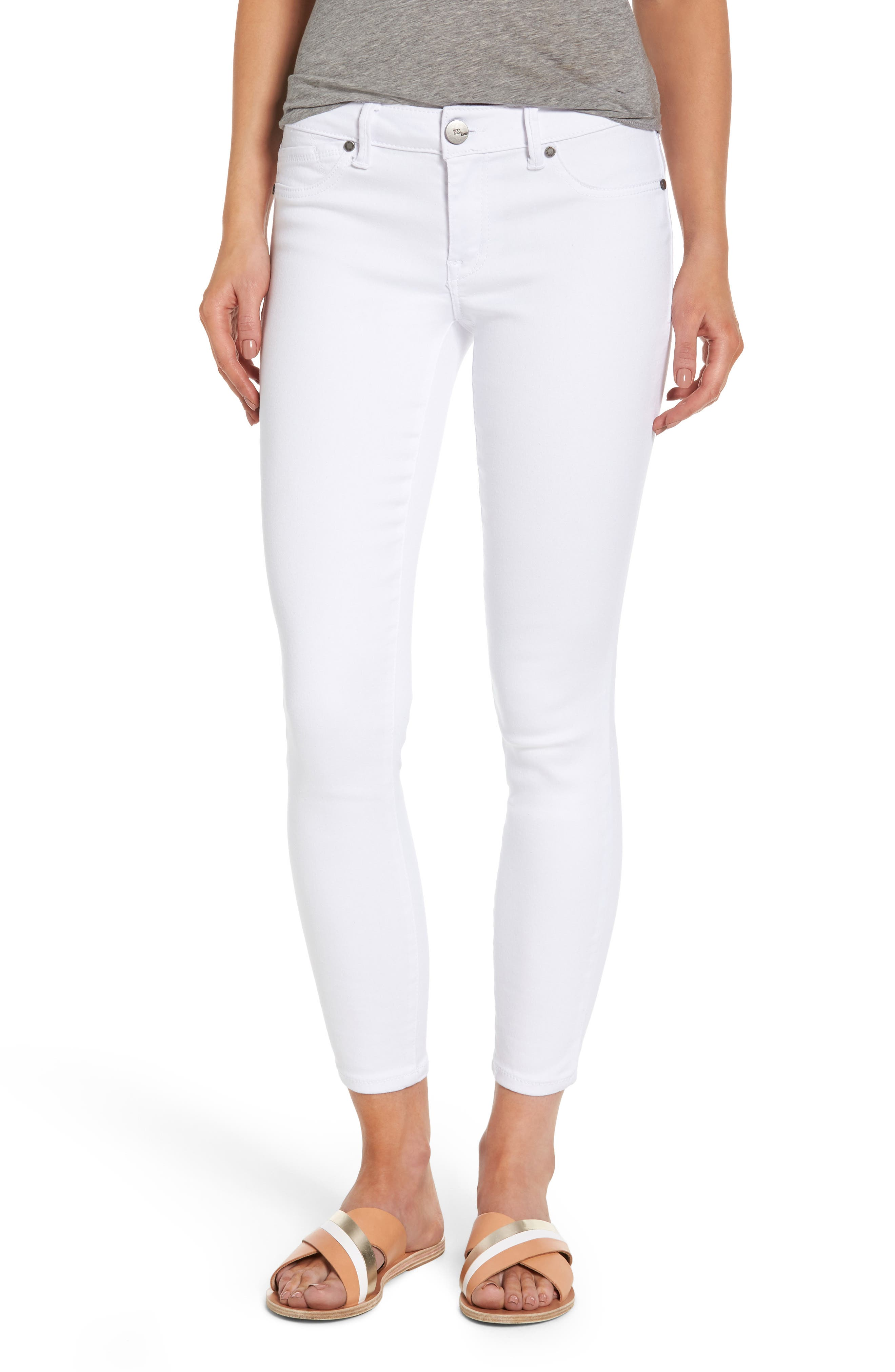 1822 Butter Skinny Jeans,                             Main thumbnail 1, color,                             Wht