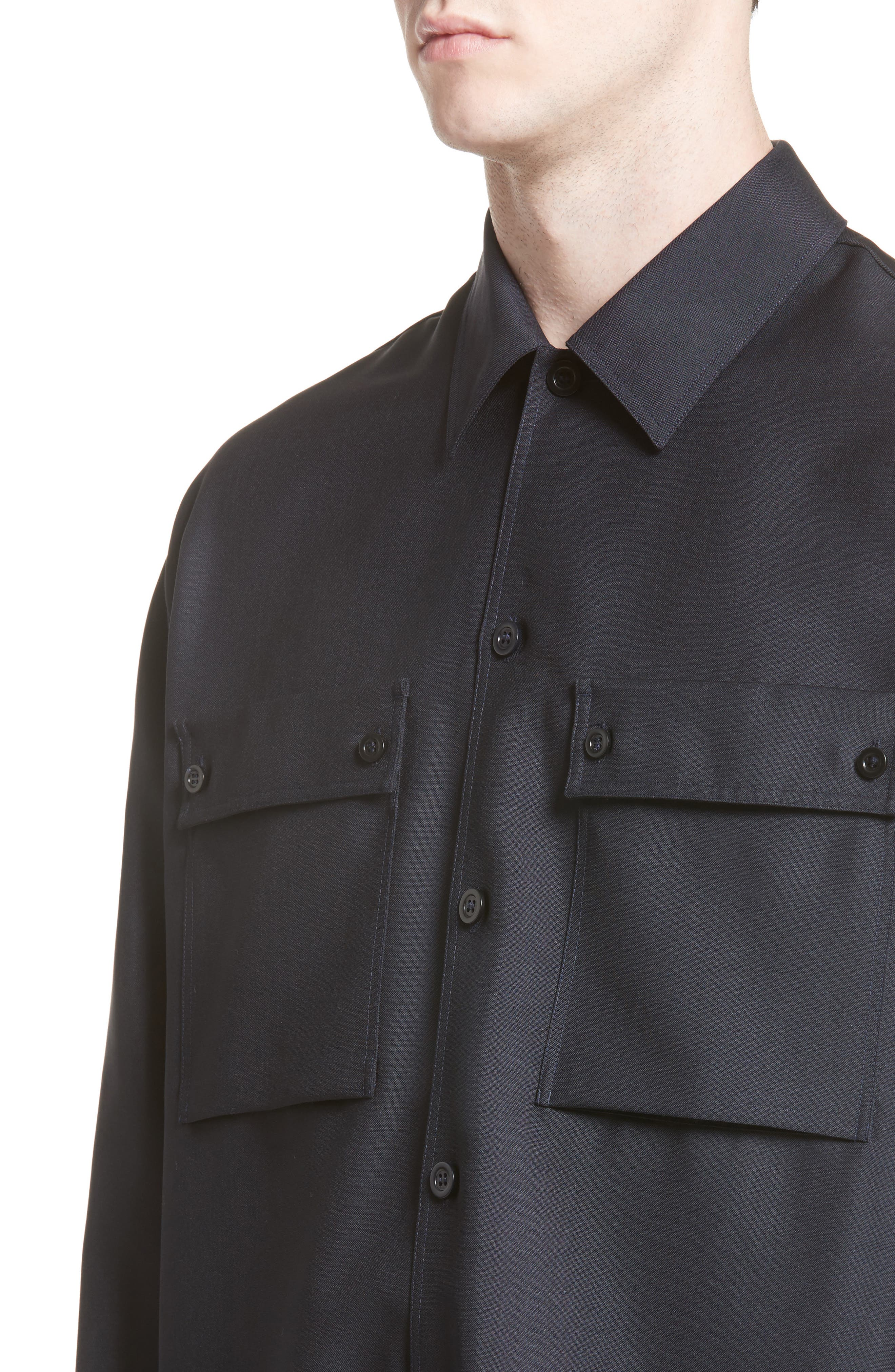 Houston Double Pocket Shirt,                             Alternate thumbnail 4, color,                             Navy