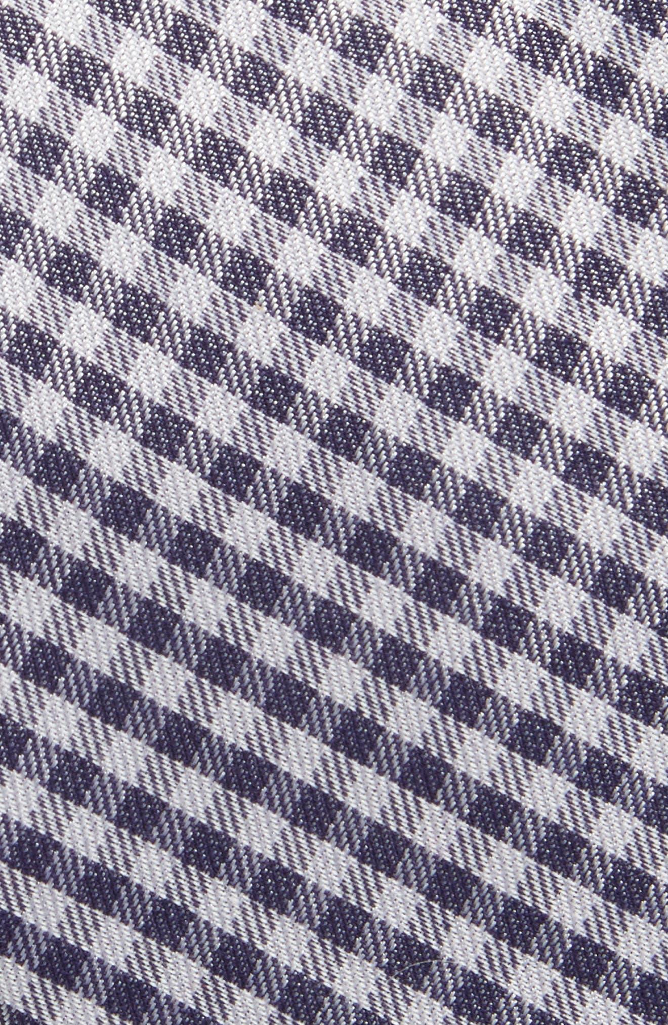 Check Cotton & Silk Tie,                             Alternate thumbnail 2, color,                             Navy