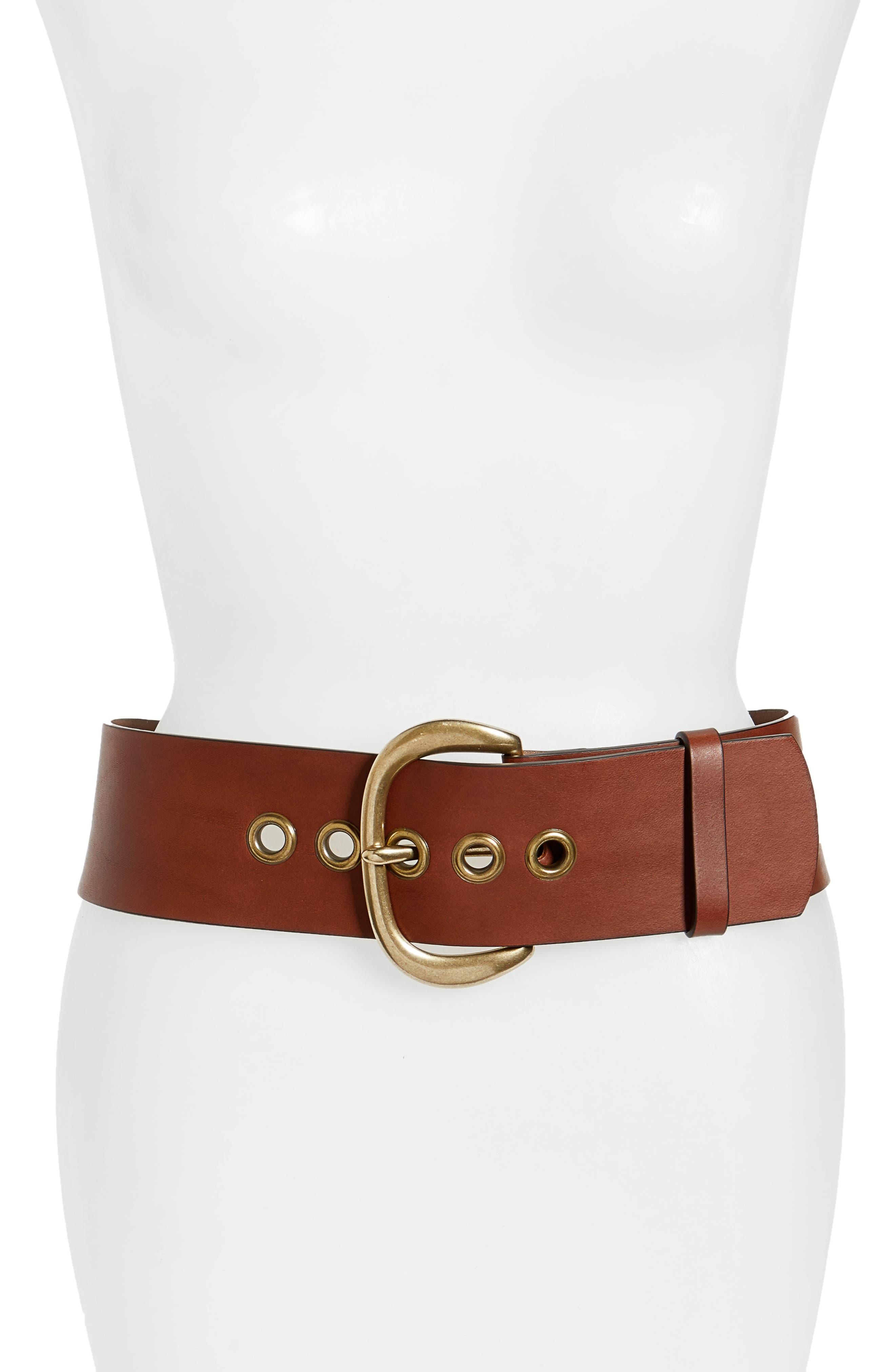 Alternate Image 1 Selected - Frye Wide Leather Belt (Nordstrom Exclusive)